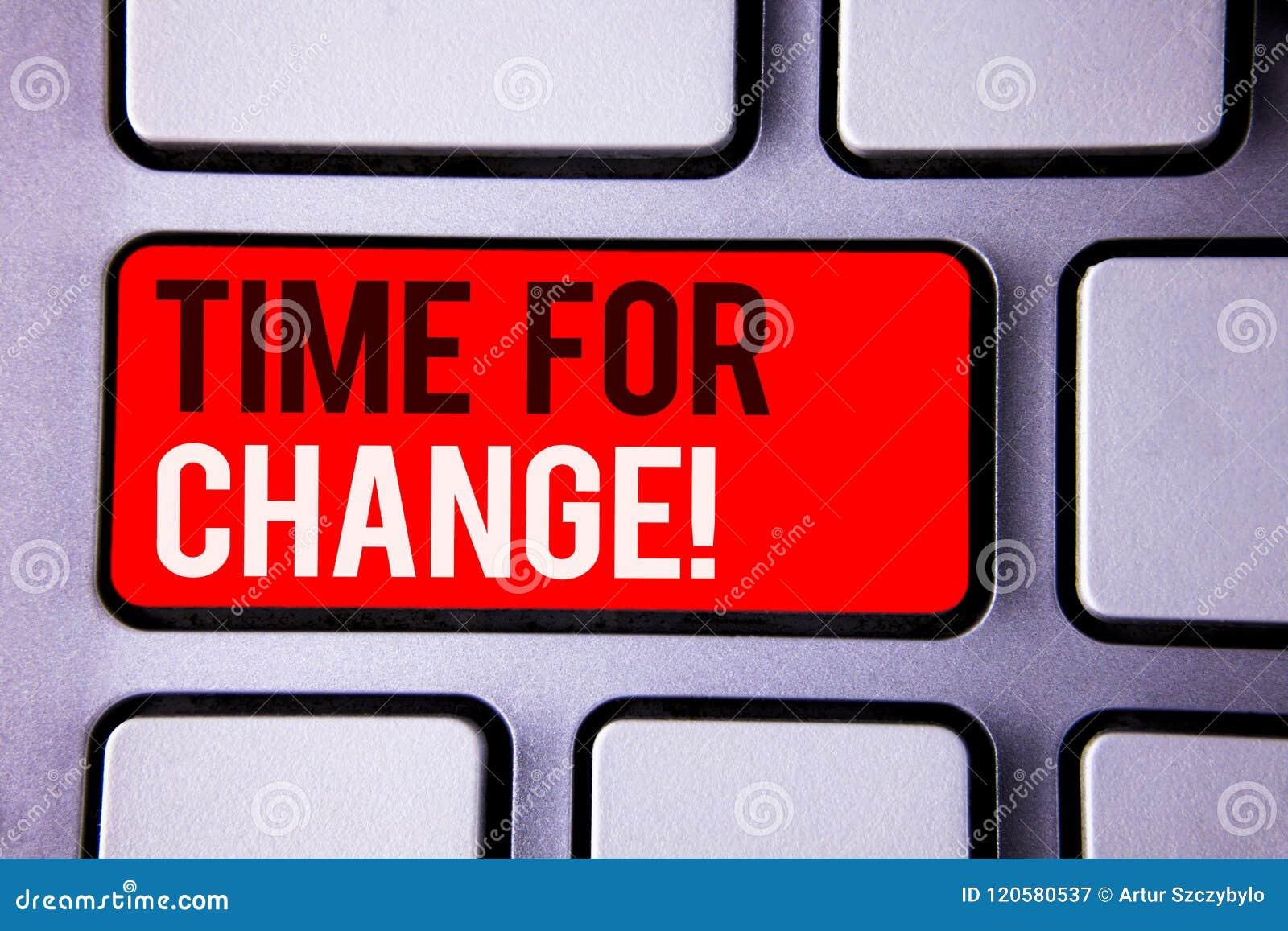 Exprimez le temps des textes d écriture pour l appel de motivation de changement Le concept d affaires pour la transition se déve
