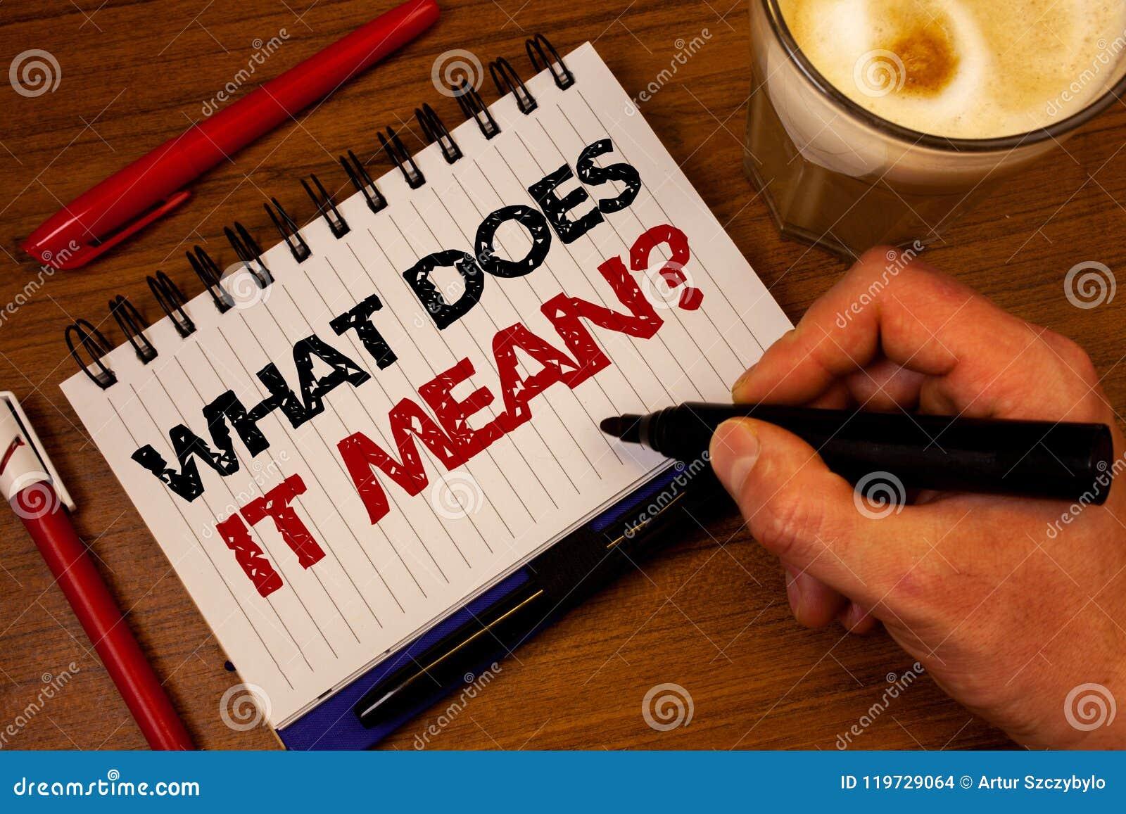 Exprimez le texte d écriture ce qui il signifie la question Le concept d affaires pour l interrogation de curiosité de confusion