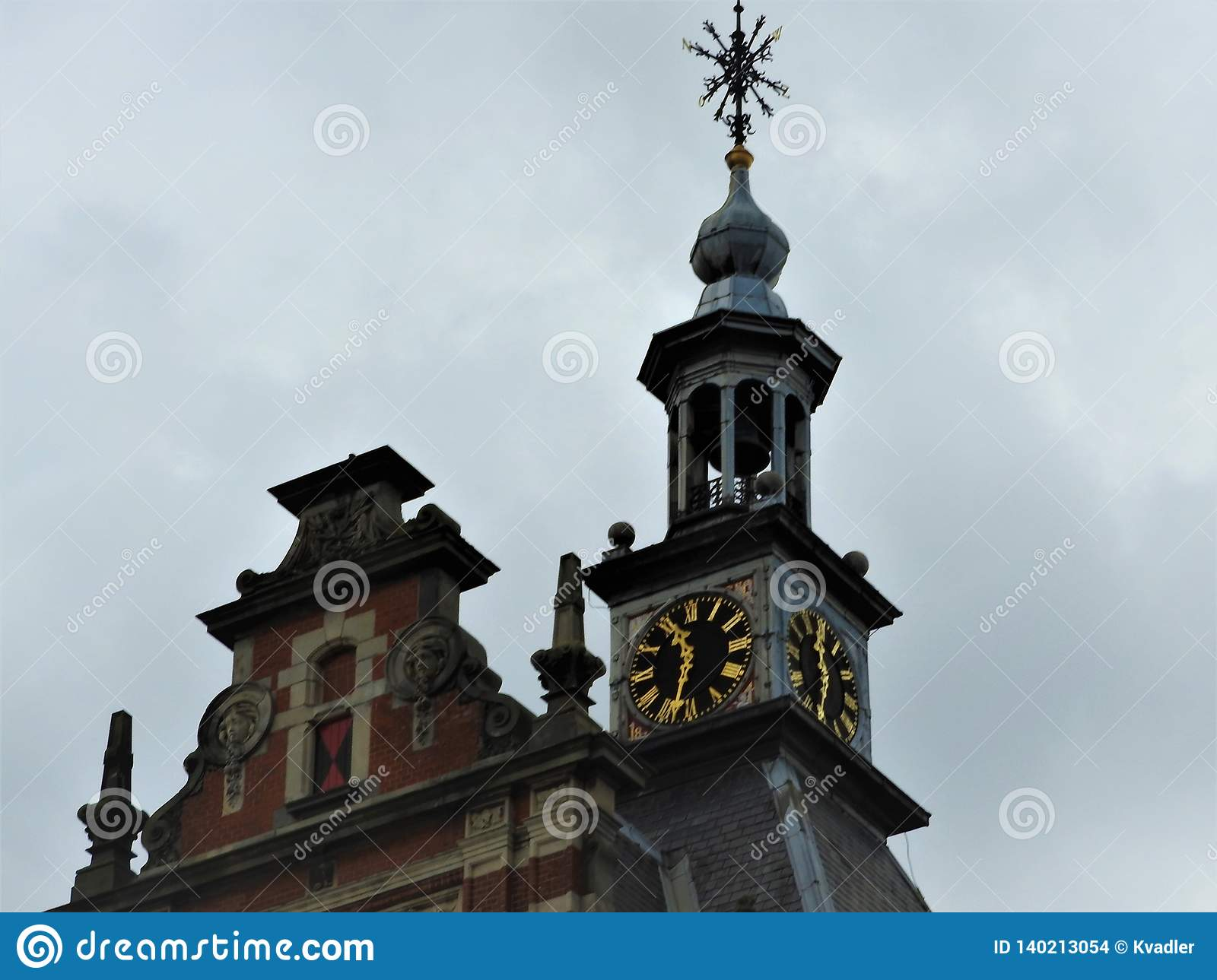 Exquisite architecture of Amsterdam, stone facades and design elements. Travelling to Europe