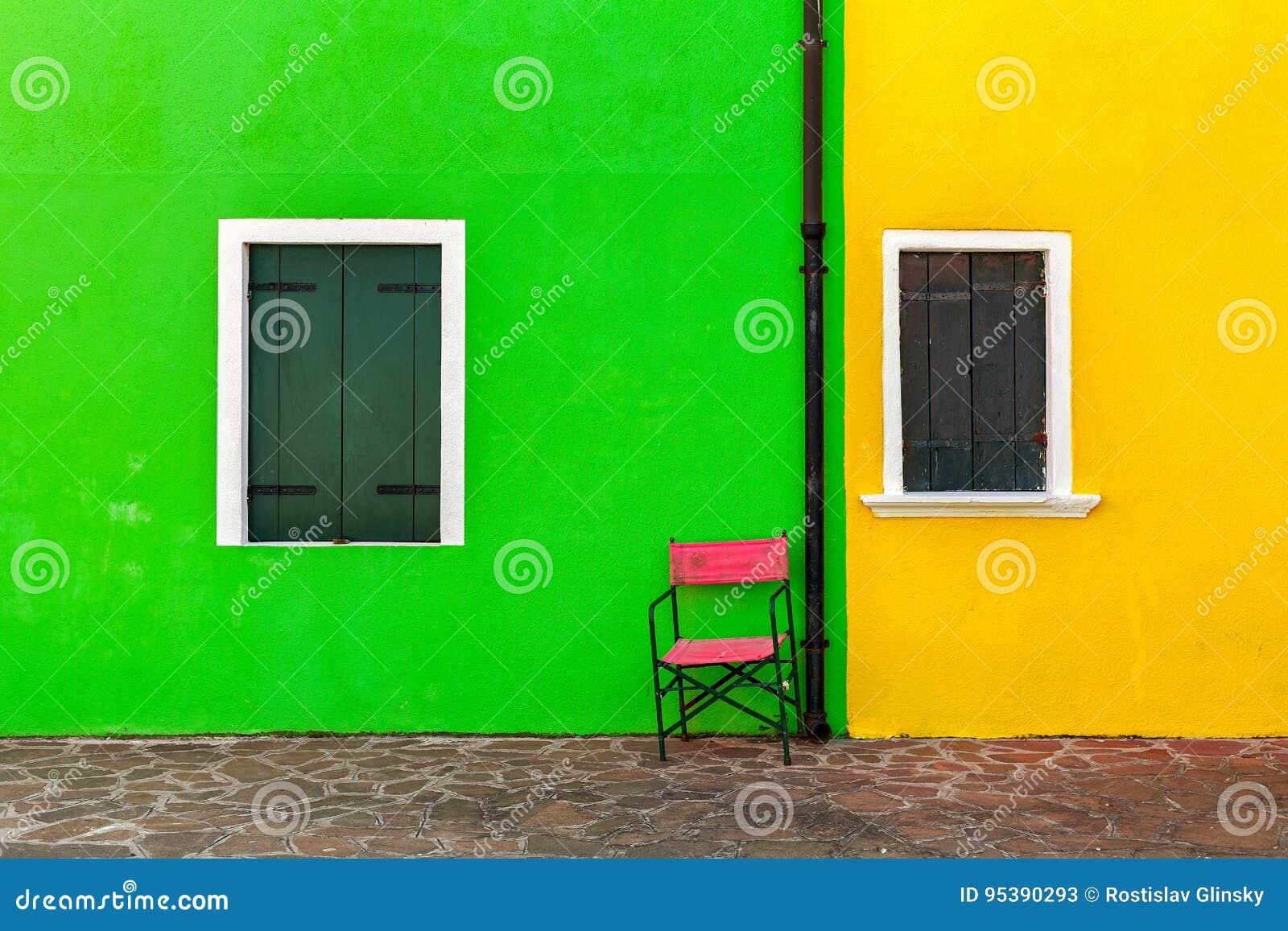 Extérieur Coloré De La Maison Dans Burano Image Stock