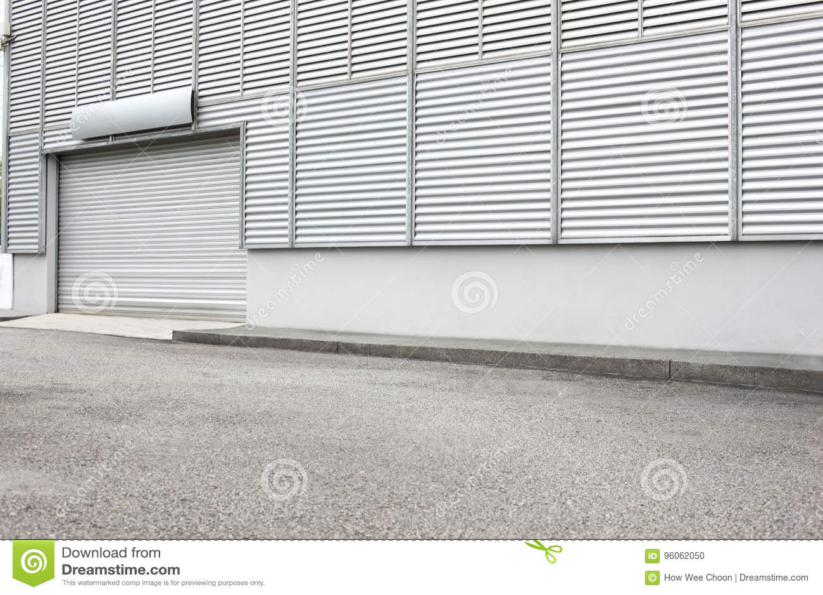 Extérieur d unité industrielle d entrepôt