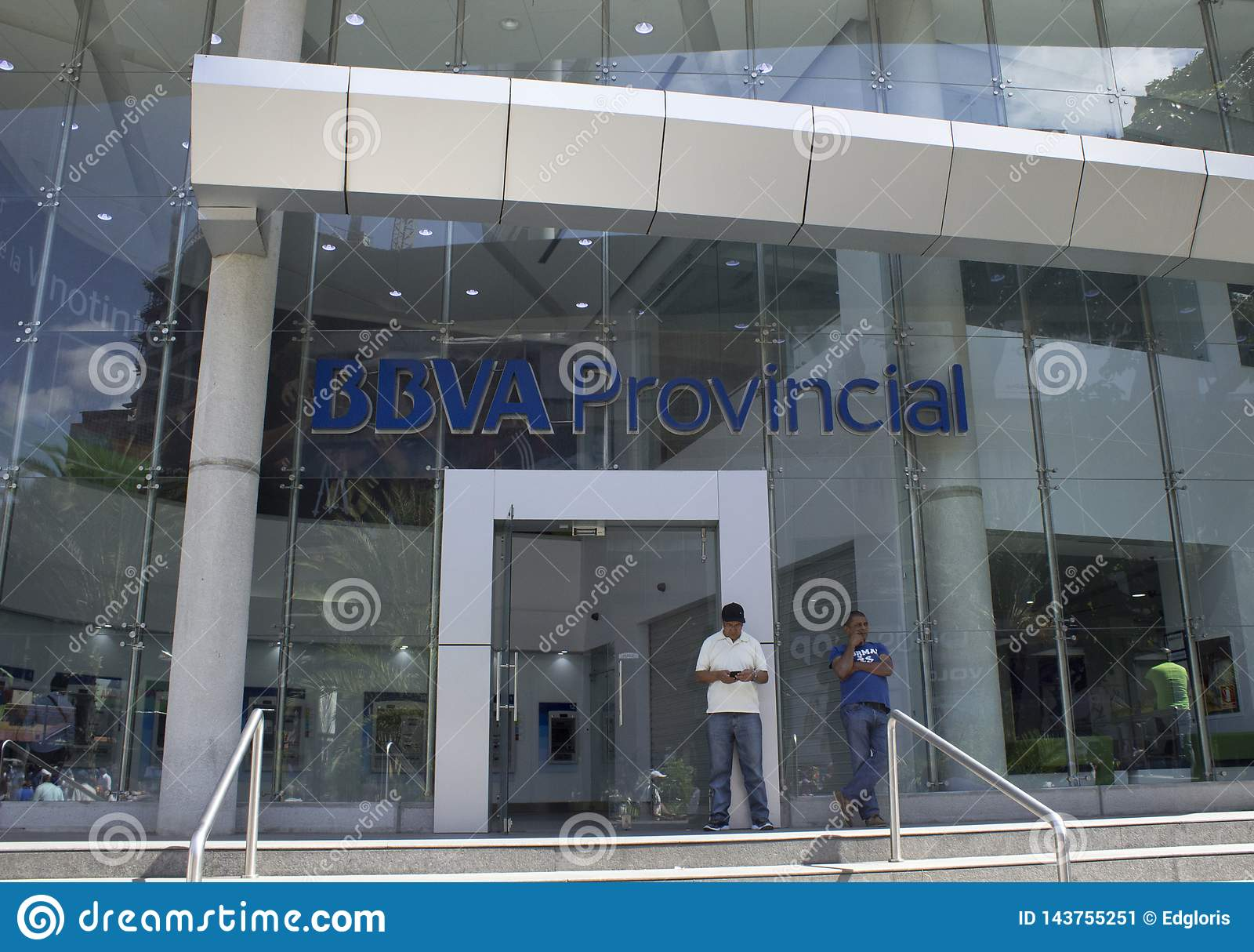 Extérieur de banque provinciale de BBVV à Caracas, Venezuela