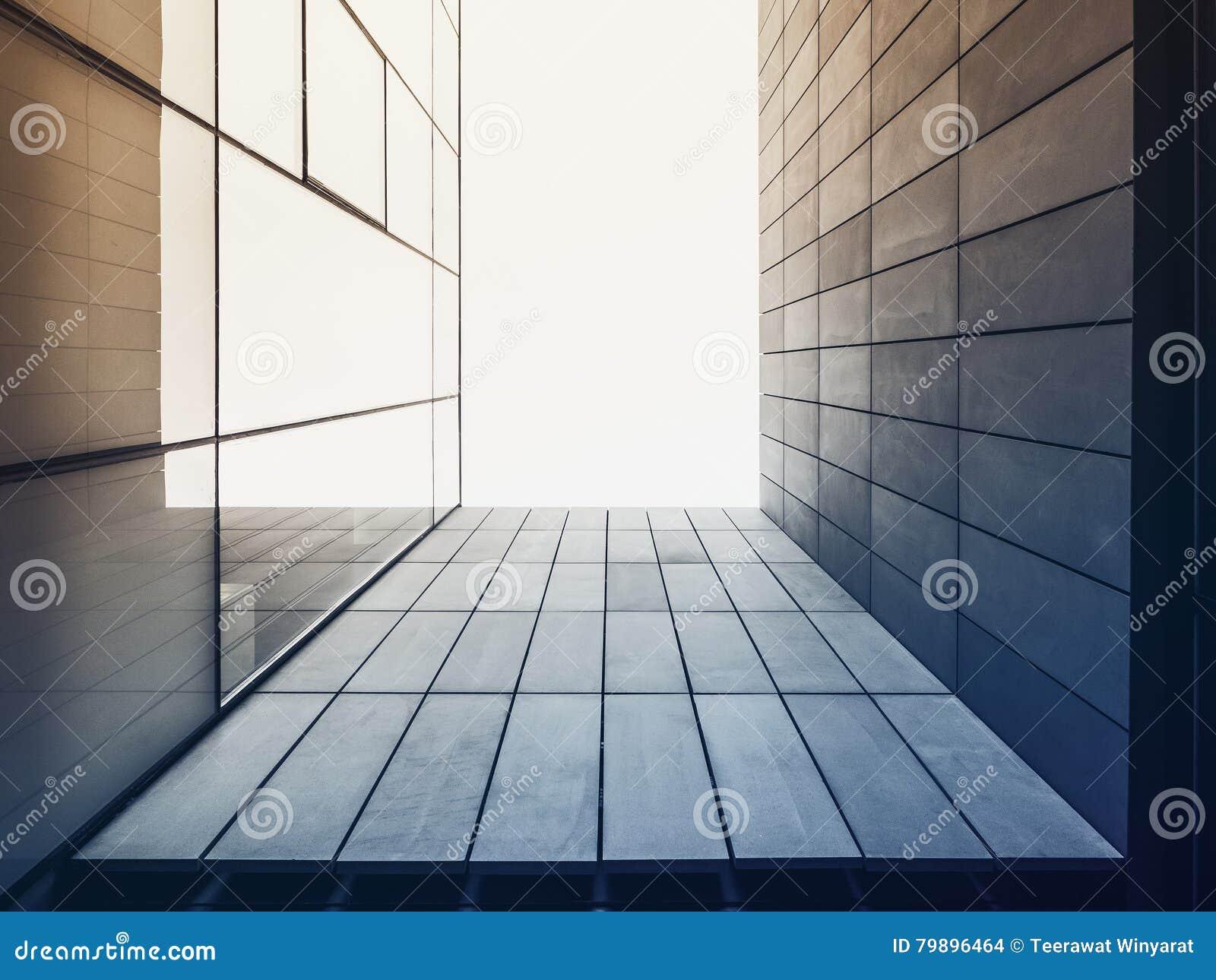 Extérieur de construction de façade en verre moderne de détail d architecture