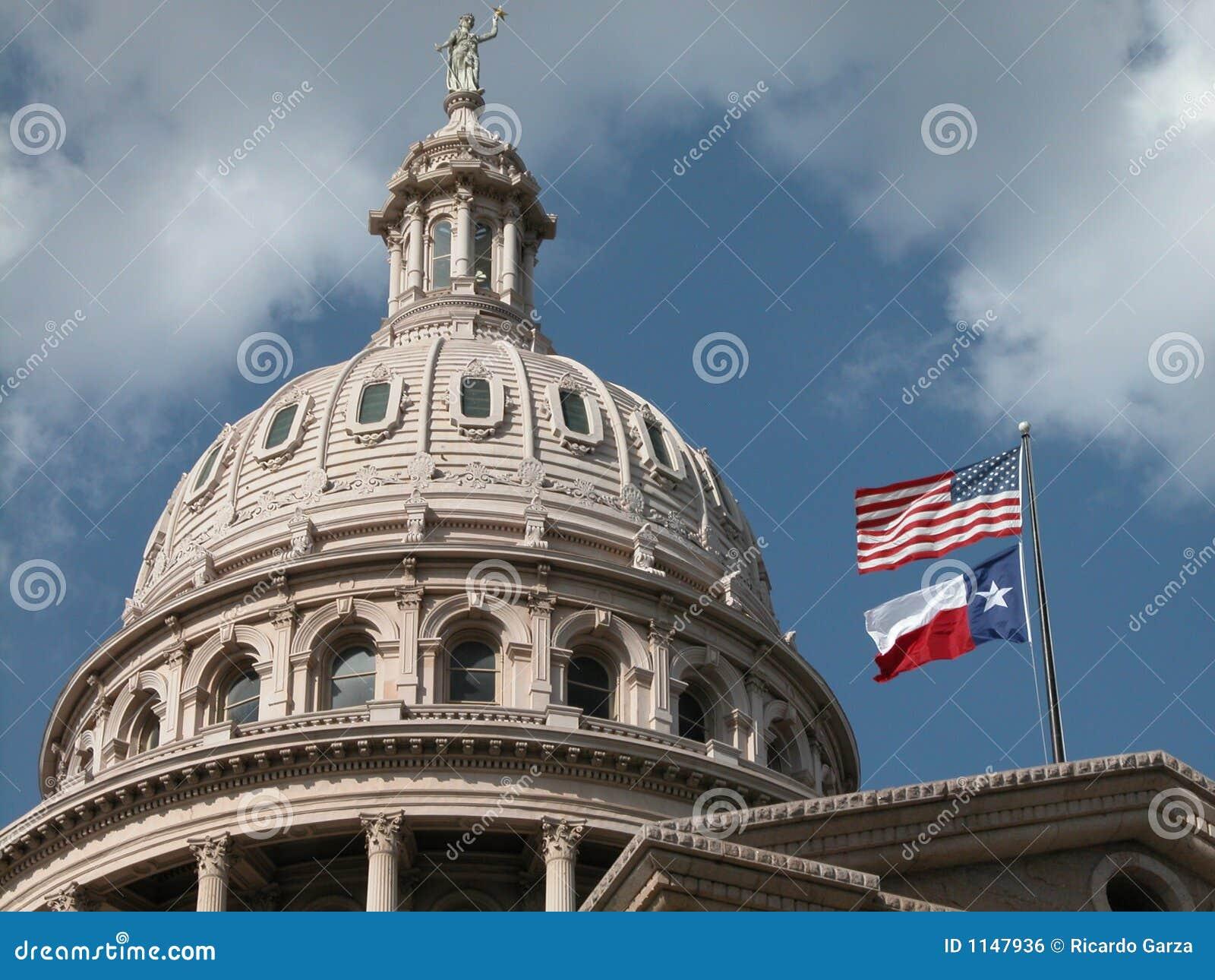 Extérieur de dôme de capitol du Texas