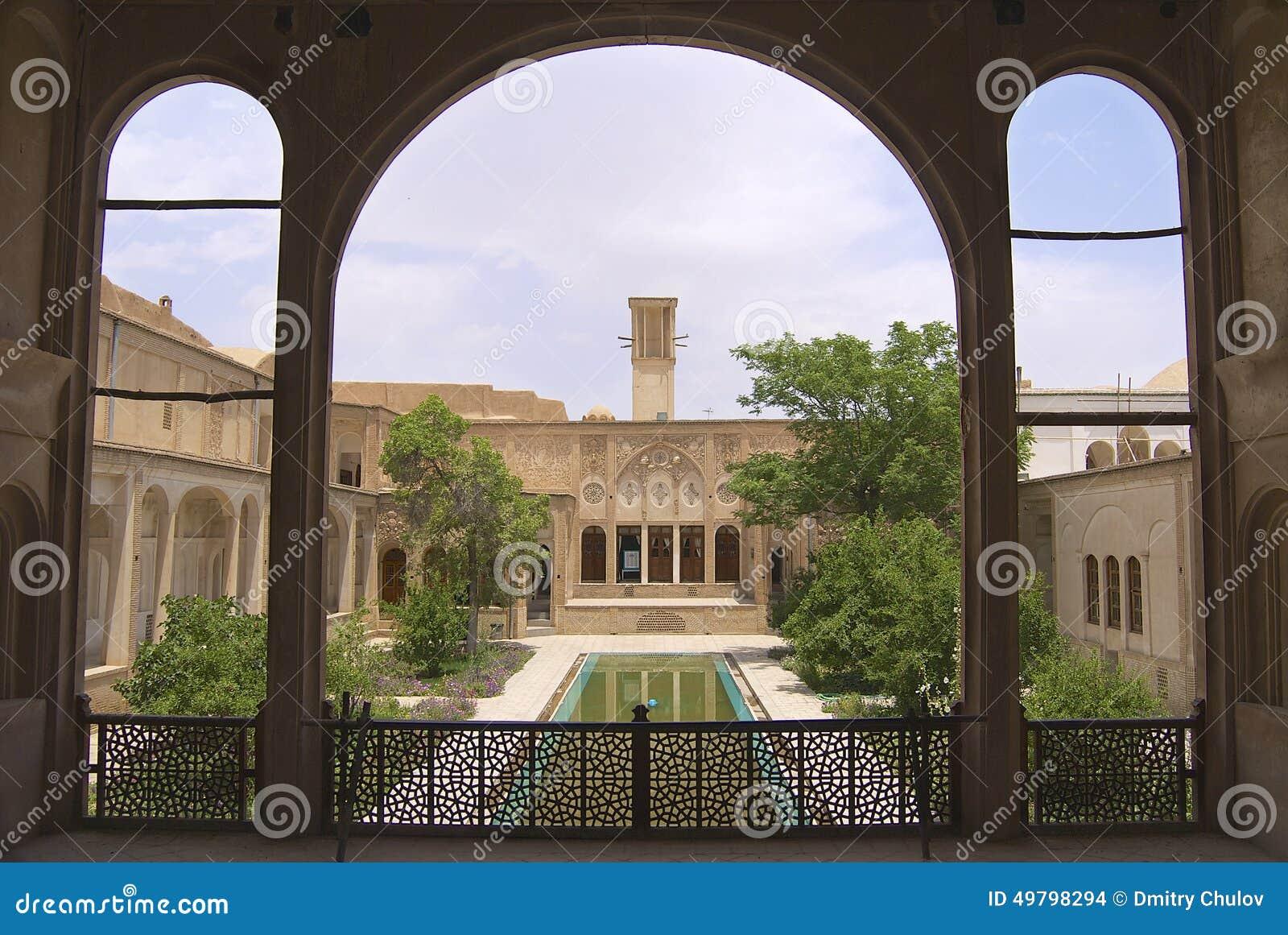 Ext rieur de la maison de lari dans yazd iran image stock for Exterieur de la maison