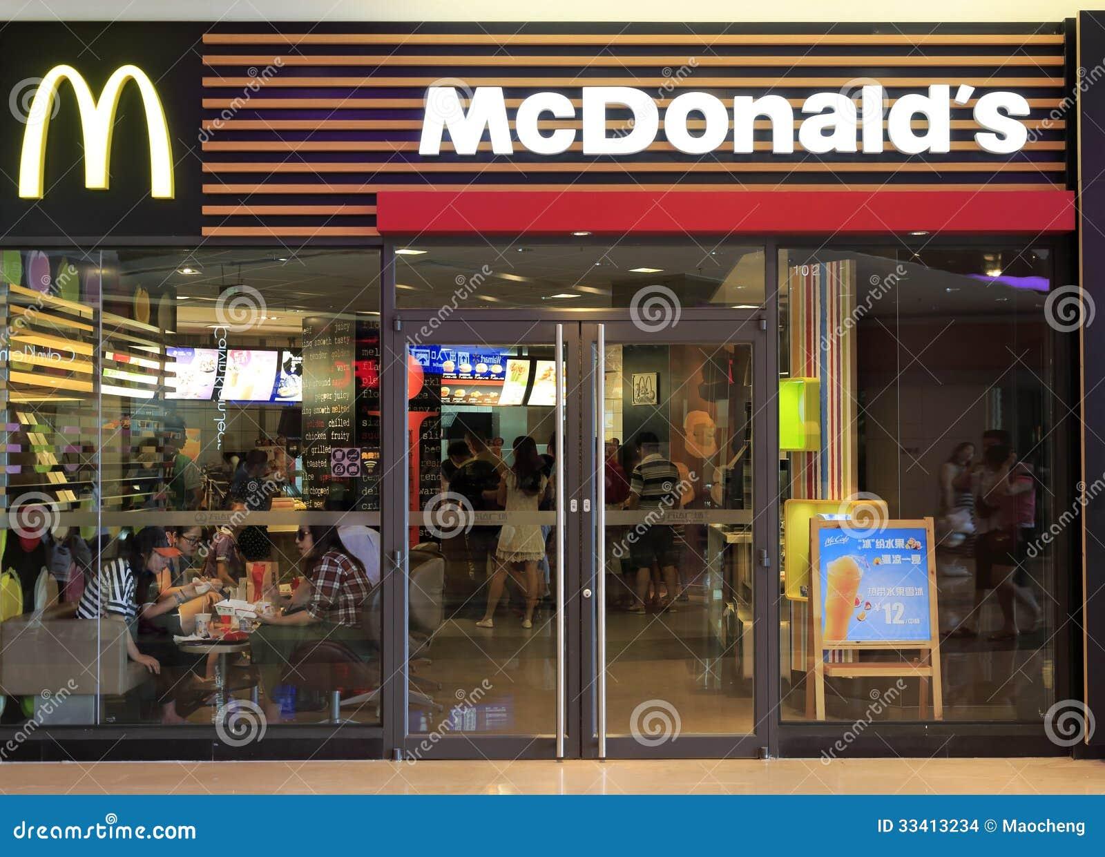 Ext rieur de mcdonald image stock ditorial image 33413234 for Restaurant exterieur
