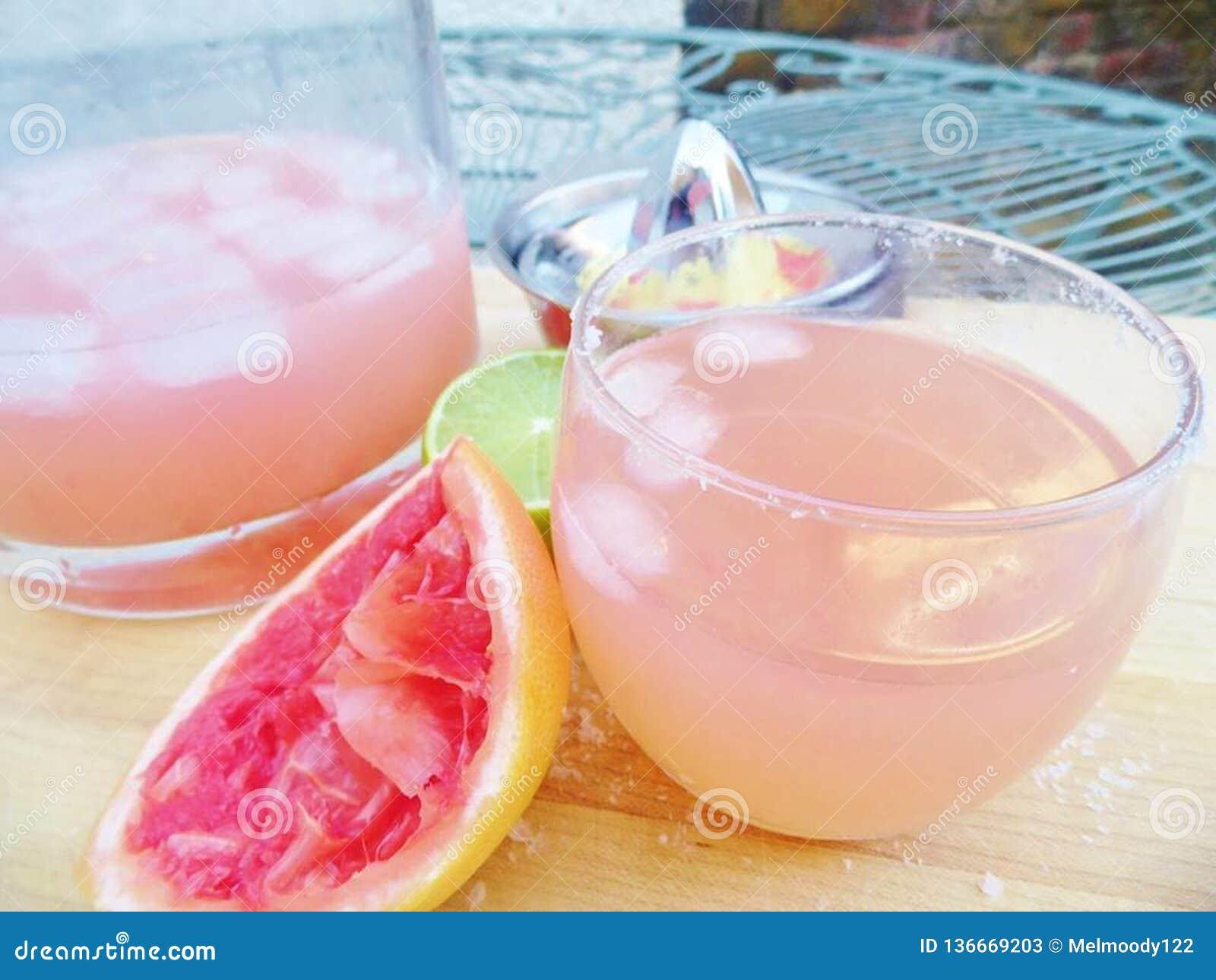 Extérieur rose de Margarita Cocktail Drink