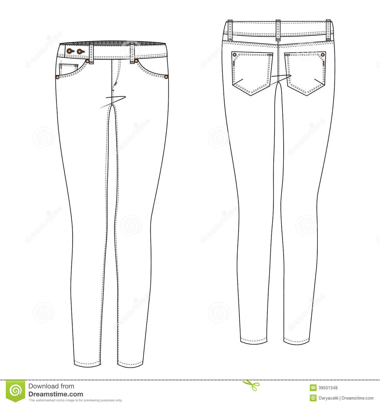 Extended Tab Jean