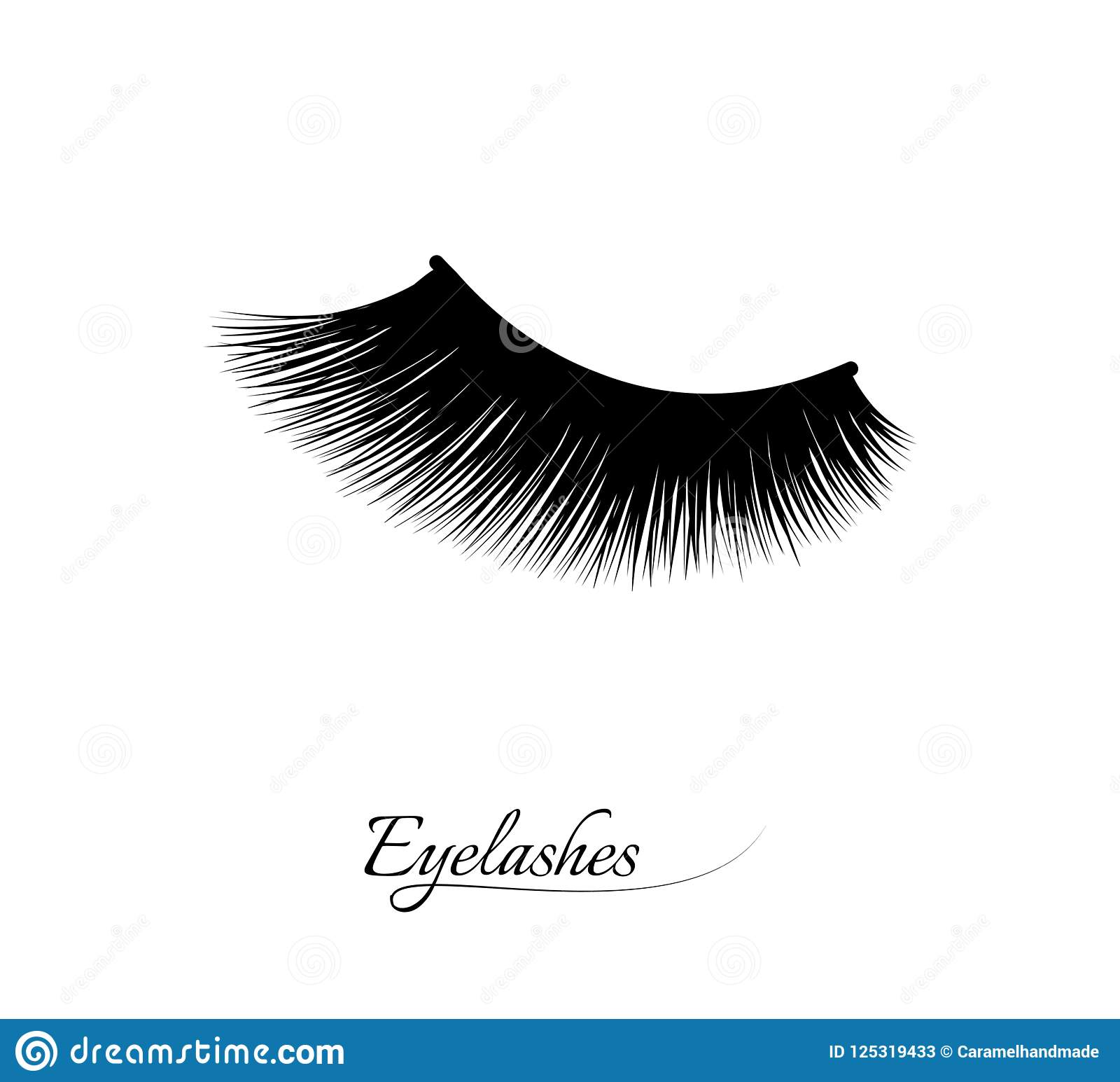 Extensión de la pestaña Pestañas largas negras hermosas Ojo cerrado Cilios falsos de la belleza Efecto natural del rimel profesio