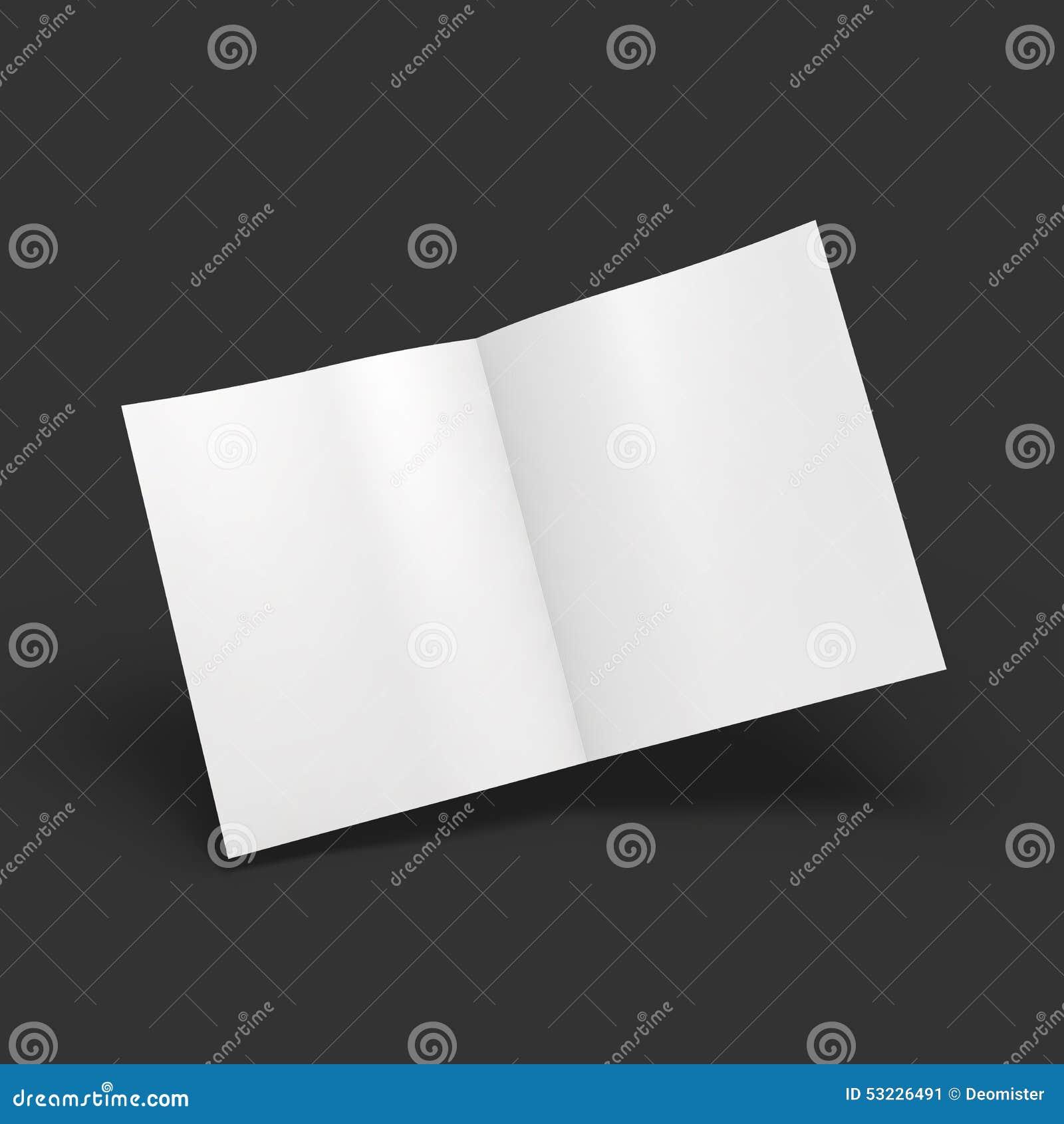 Extensión en blanco blanca de la revista Maqueta del negocio