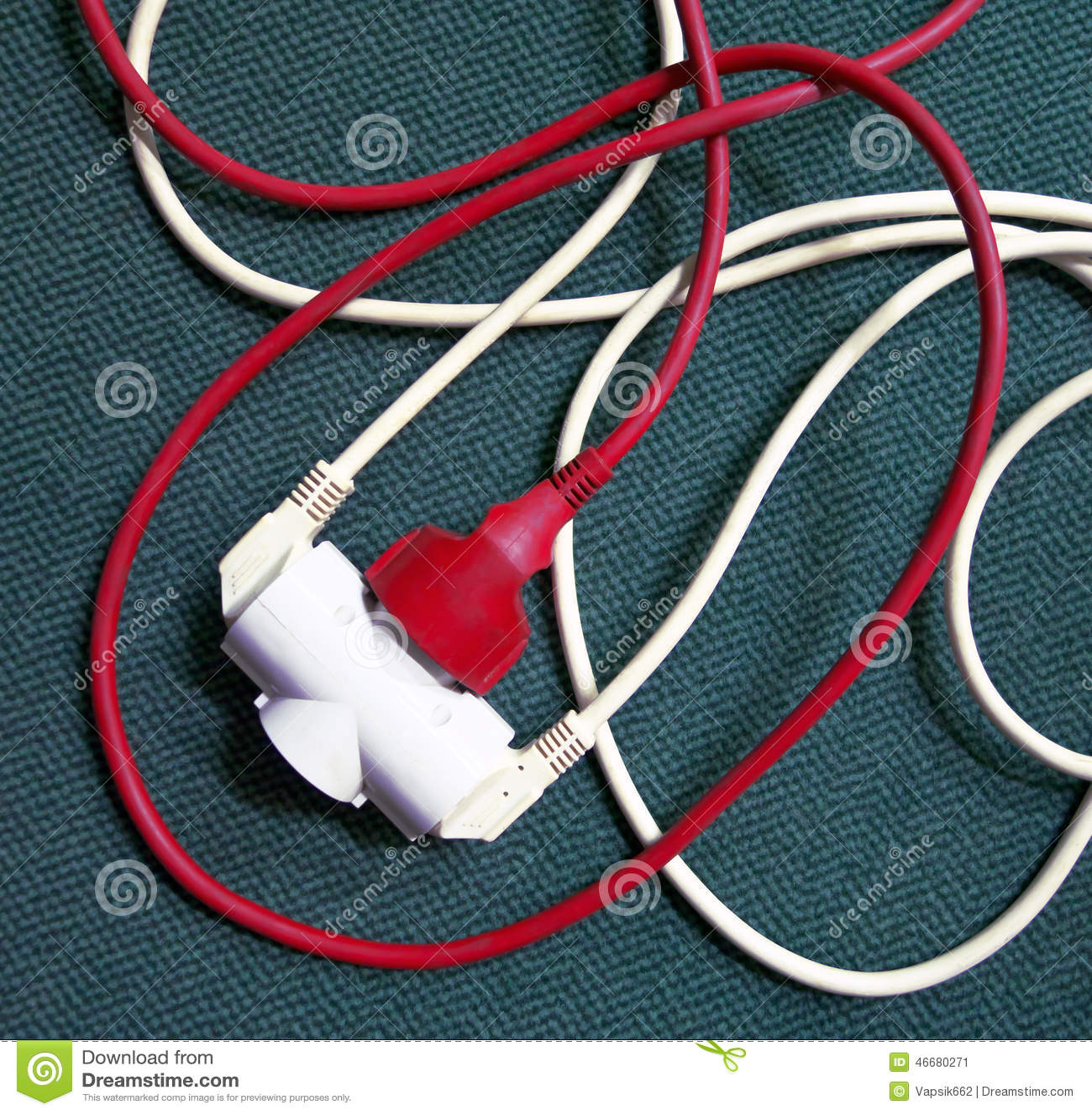 Tangled Extension Cords : Tangled extension cords