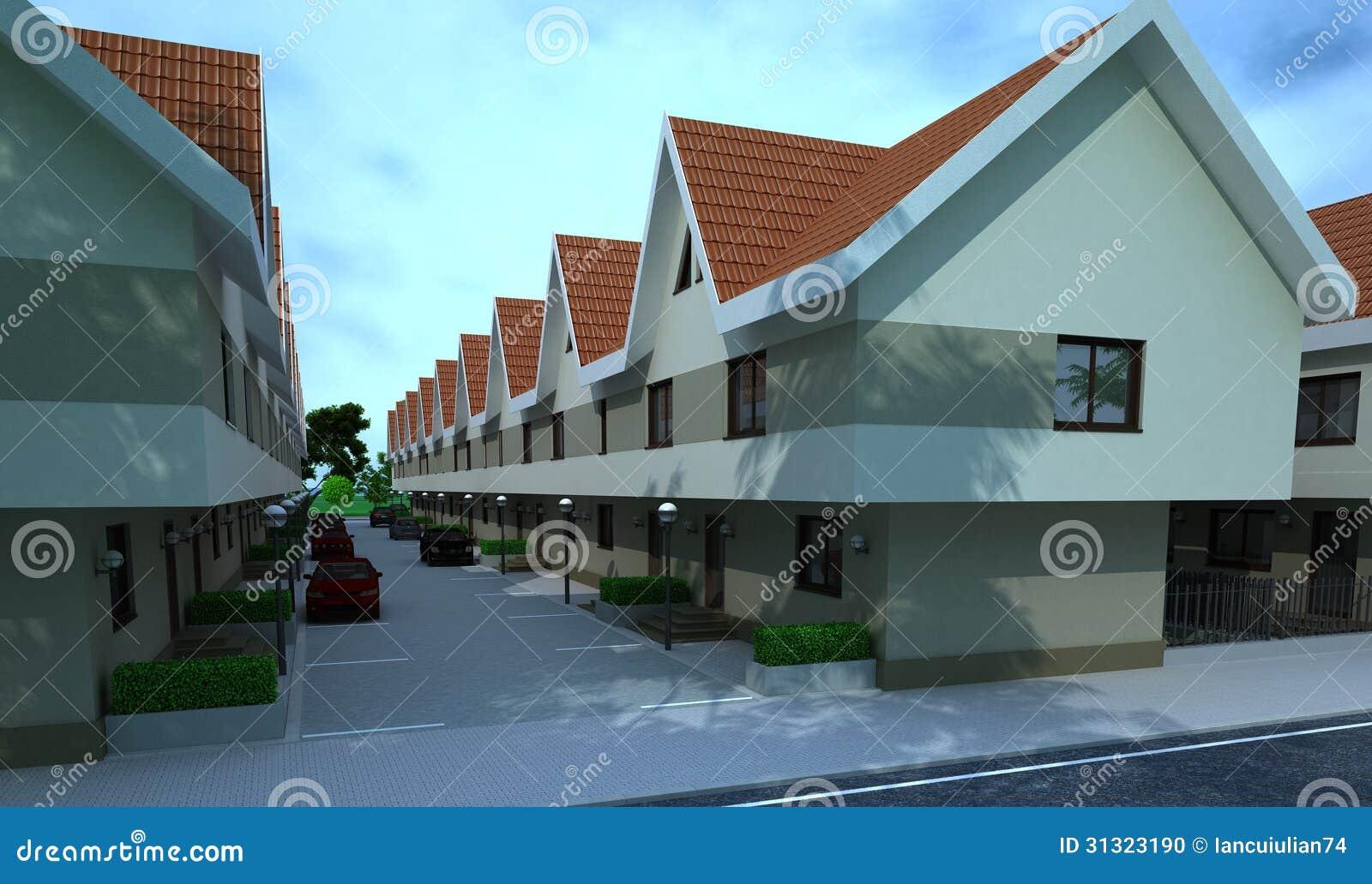 Exterior building design rendering architecture stock for Exterior design of building