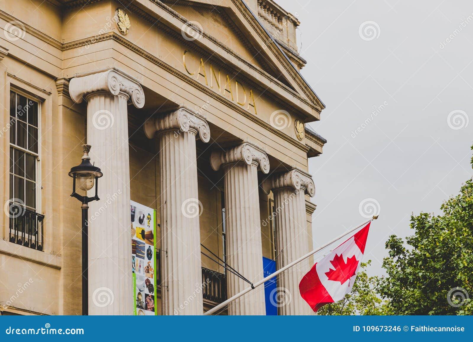 Exterior Of The Canadian Embassy In London Near Trafalgar