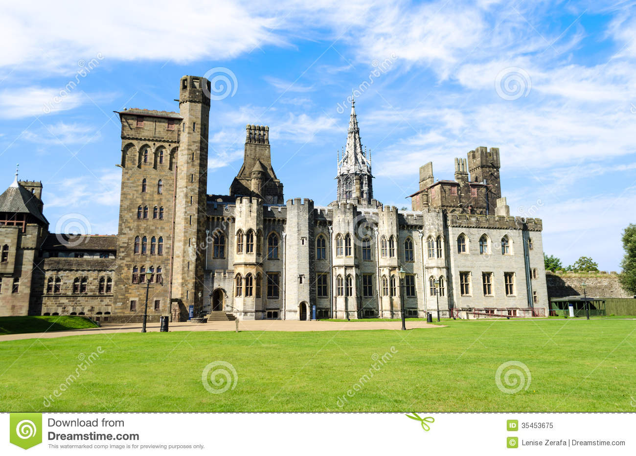 Cardiff United Kingdom  city photos : ... Free Stock Photo: Exterior of Cardiff Castle – Wales, United Kingdom