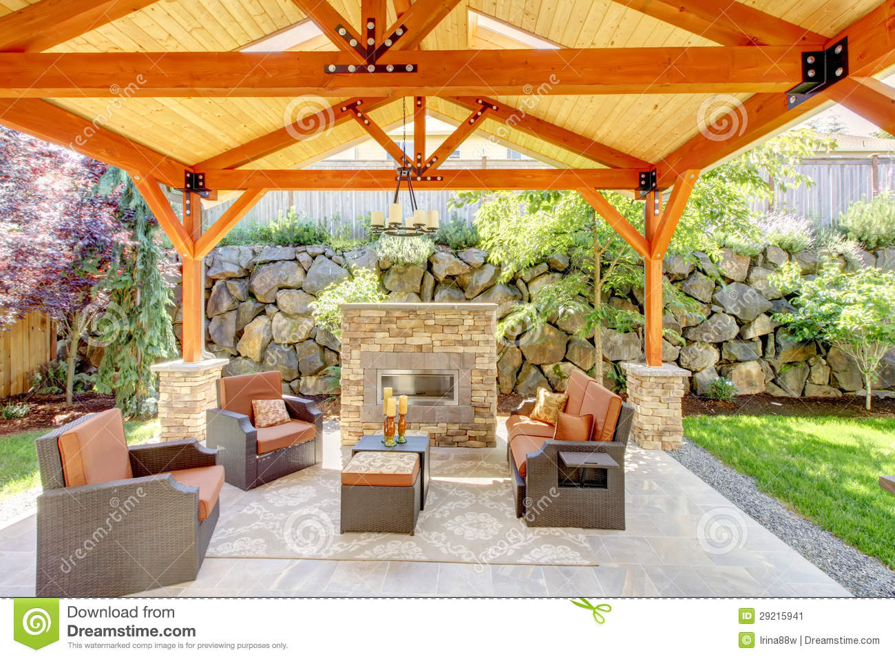 patio stylish covered woodcrestoutdoorlivingroom ideas