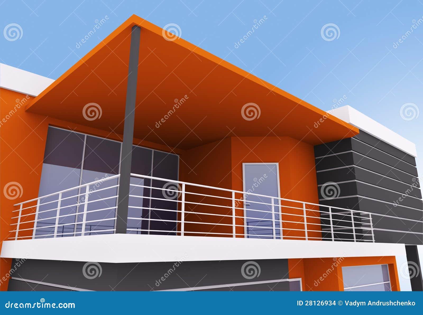 Exterior da casa moderna imagens de stock imagem 28126934 for Casa moderna exterior