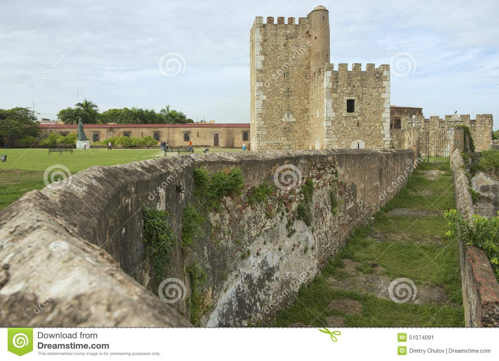 Exterior de la fortaleza de Ozama en Santo Domingo, República Dominicana