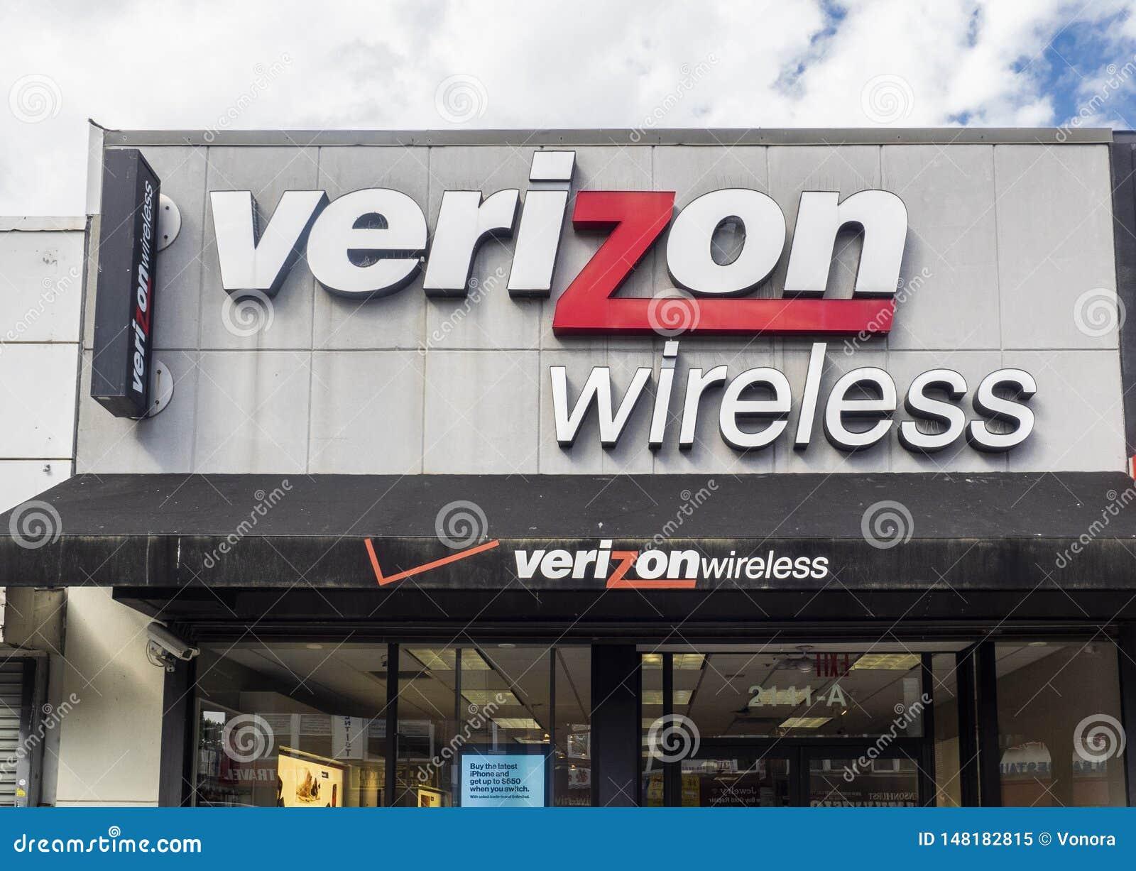 Exterior de la tienda de Verizon Wireless