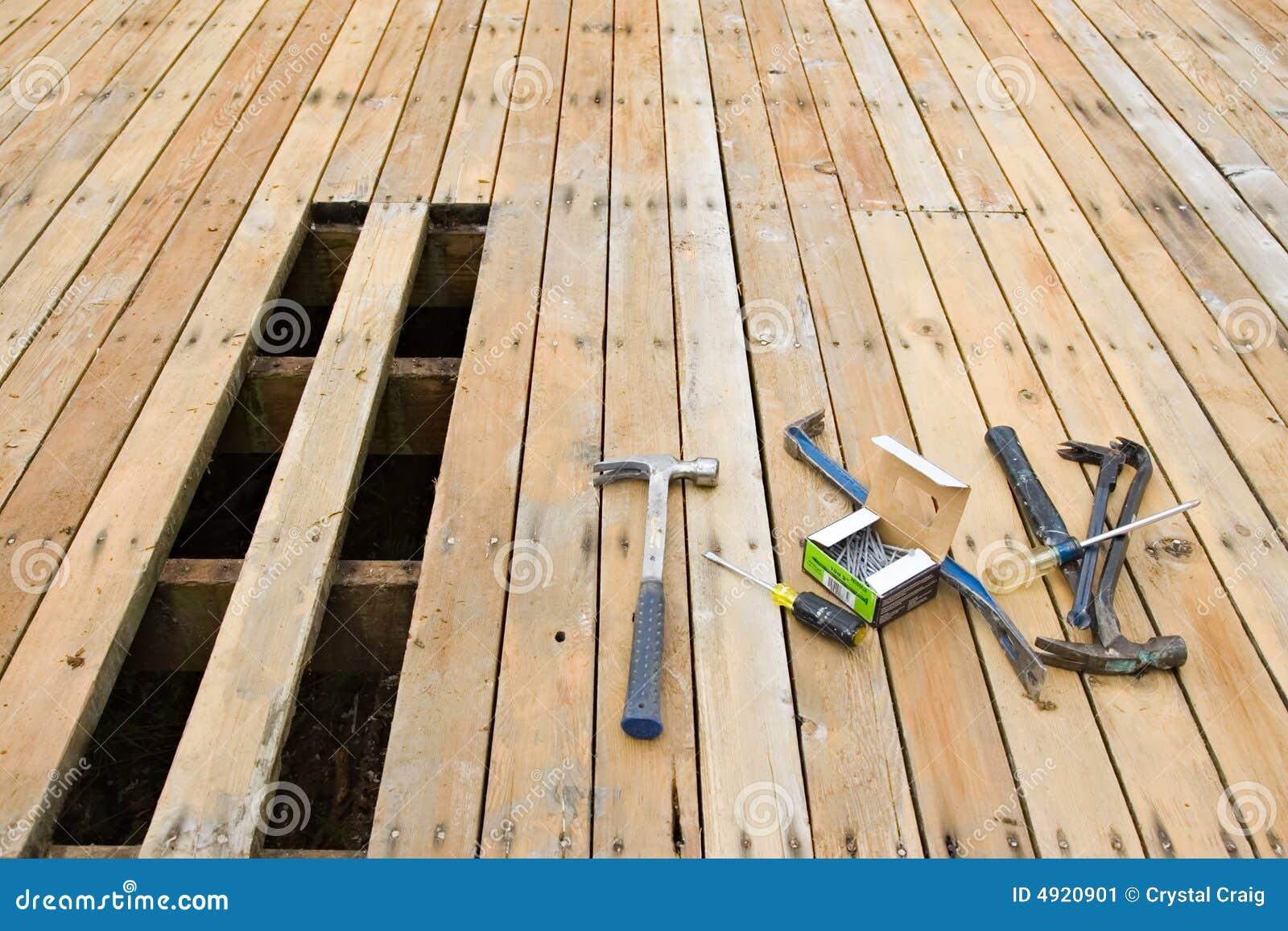 Exterior deck repair stock image image of improvement for Exterior hardwood decking