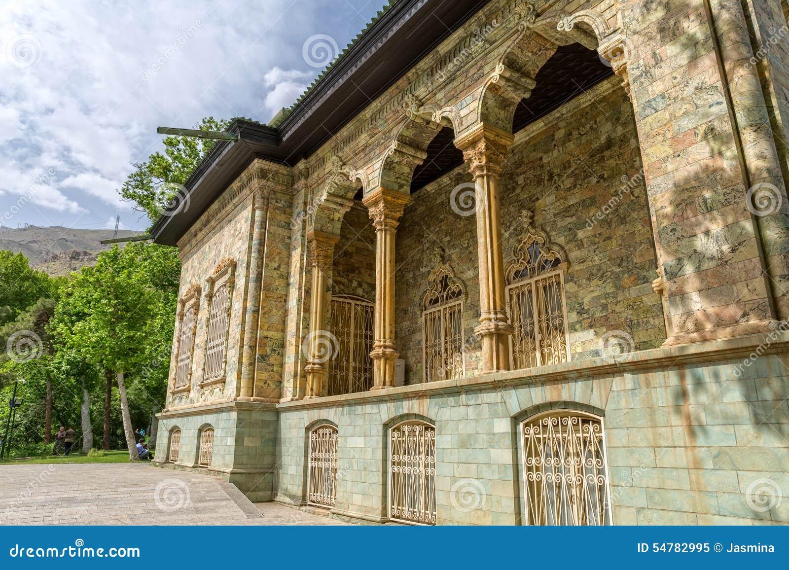 Exterior del palacio de Saadabad
