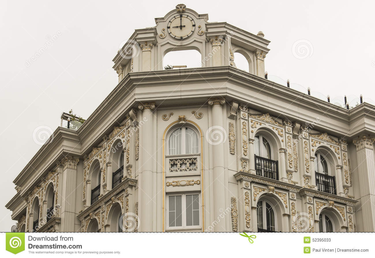 Exterior Facade Of An Ornate Turkish Building Stock Image ...