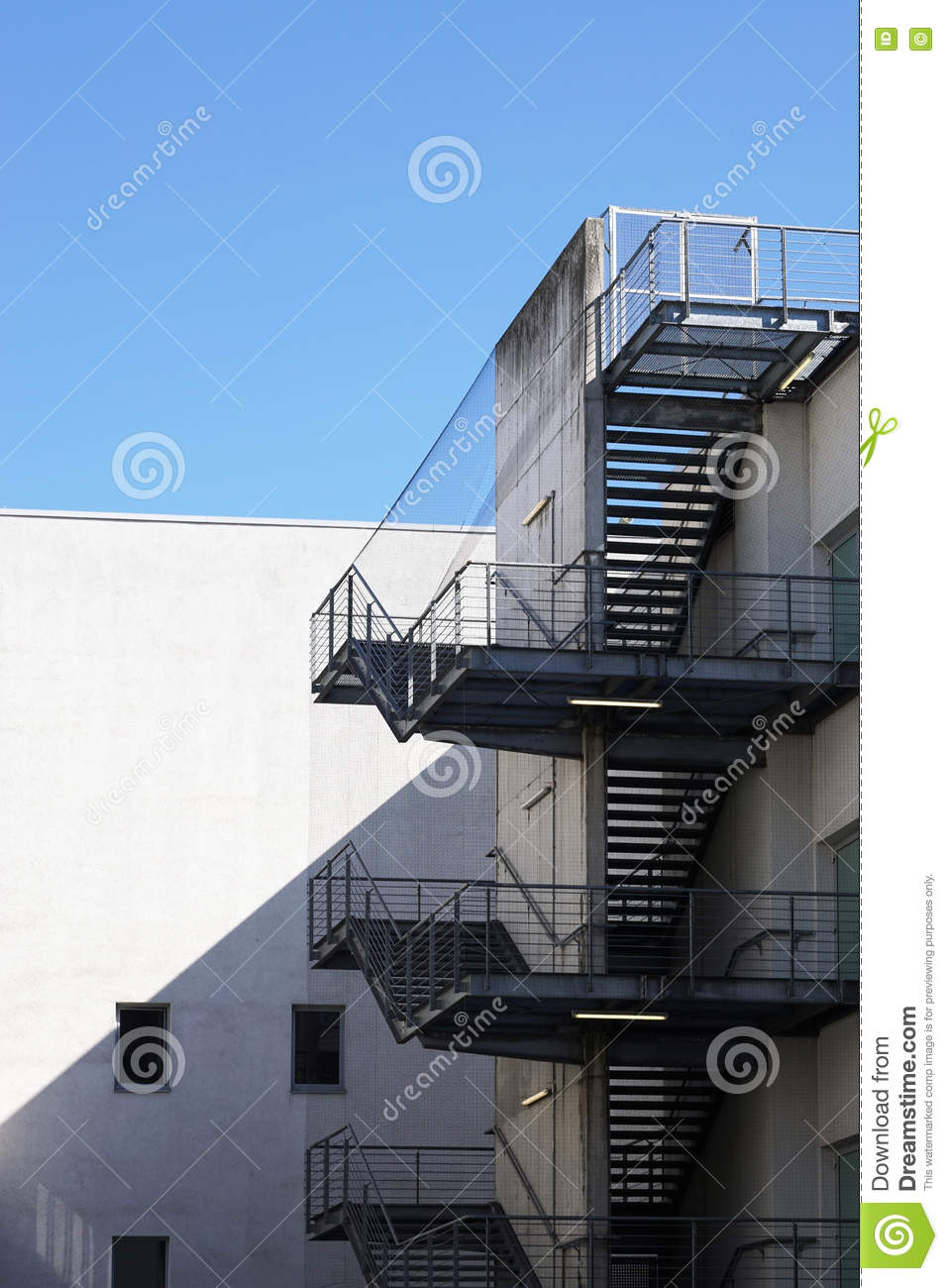 Merveilleux Exterior Fire Exit Stairs Or Staircase
