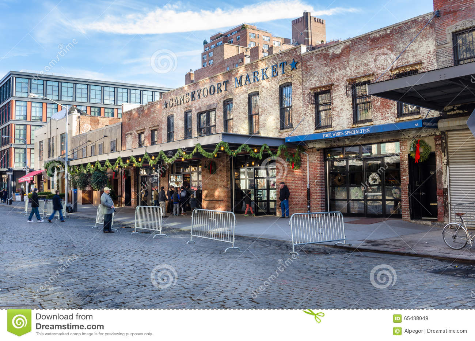 Gansevoort Market exterior of gansevoort market editorial stock image - image: 65438049