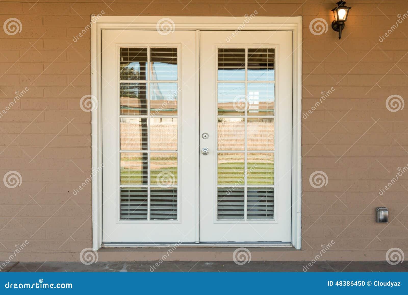 Exterior Glass Door Stock Photo Image Of Glass Light 48386450