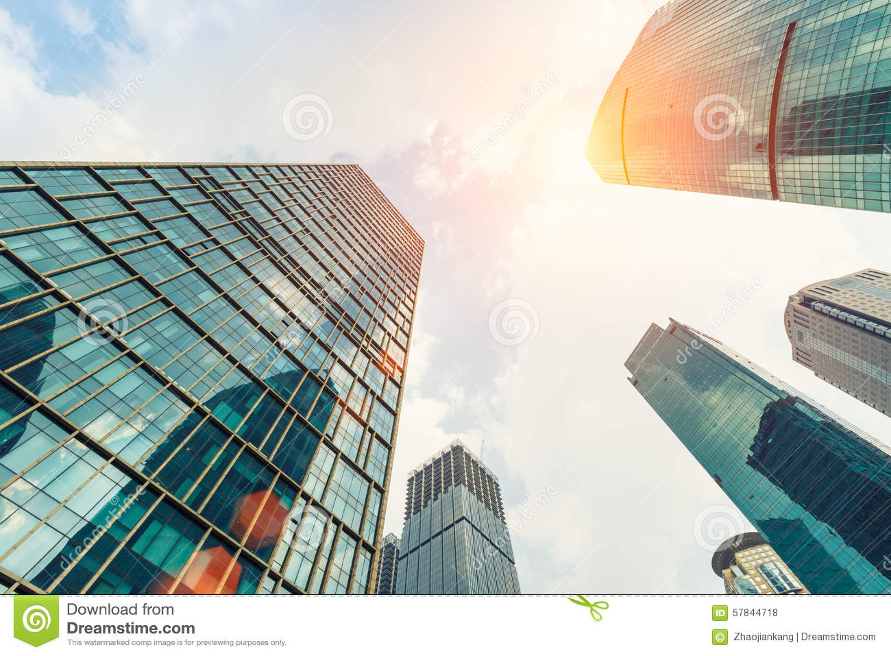 Exterior of glass office building stock photo image for Exterior background