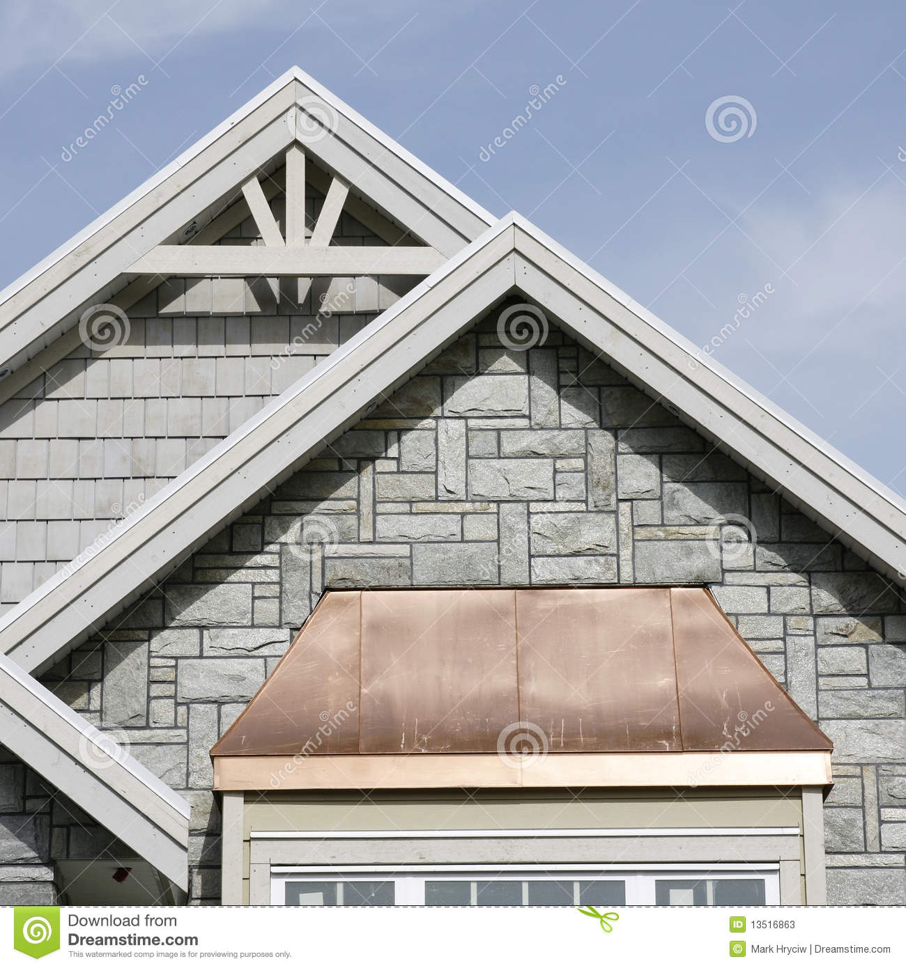 Exterior Home Roof Details Stock Image Image Of