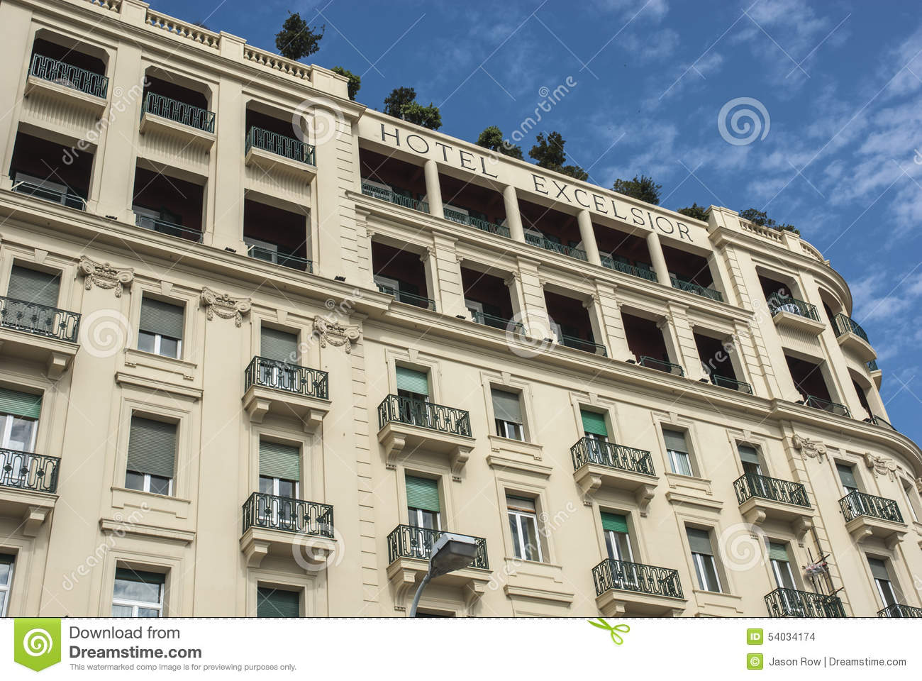 Exterior of the hotel excelsior editorial stock image for Design hotel naples italy