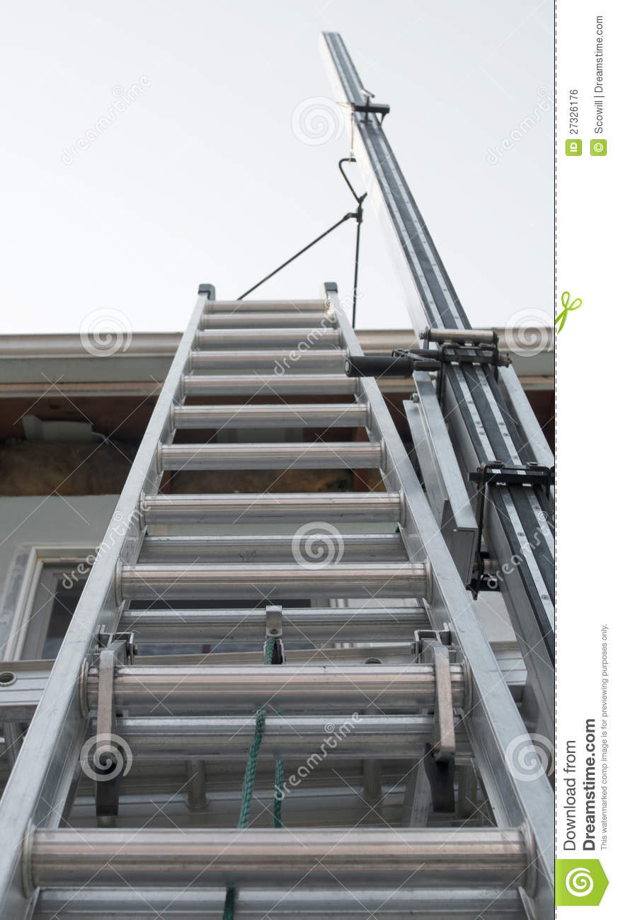 Exterior Wall Ladders : Exterior house ladder royalty free stock image