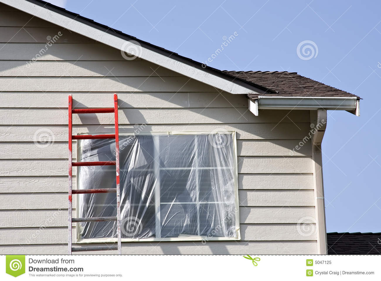 Exterior house painting royalty free stock photo image 5047125 - Painting preparation exterior photos ...