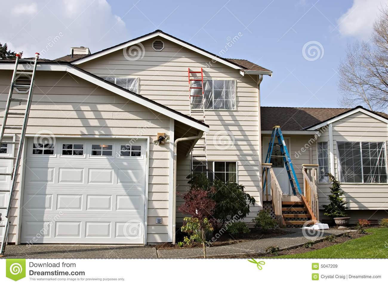 Exterior House Painting Royalty Free Stock Images Image