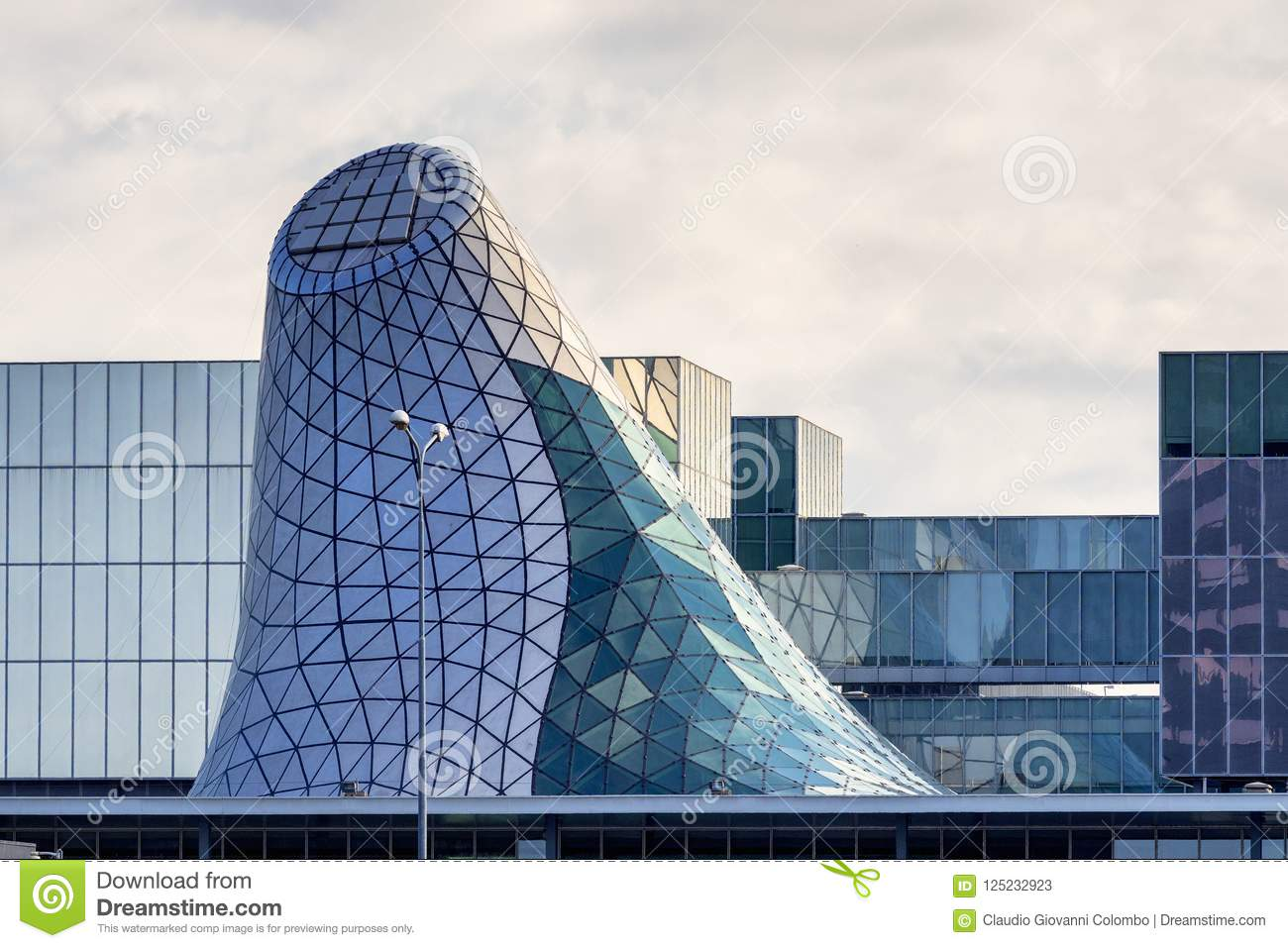 Modern Building In Rho Milan Italy Stock Image Image Of