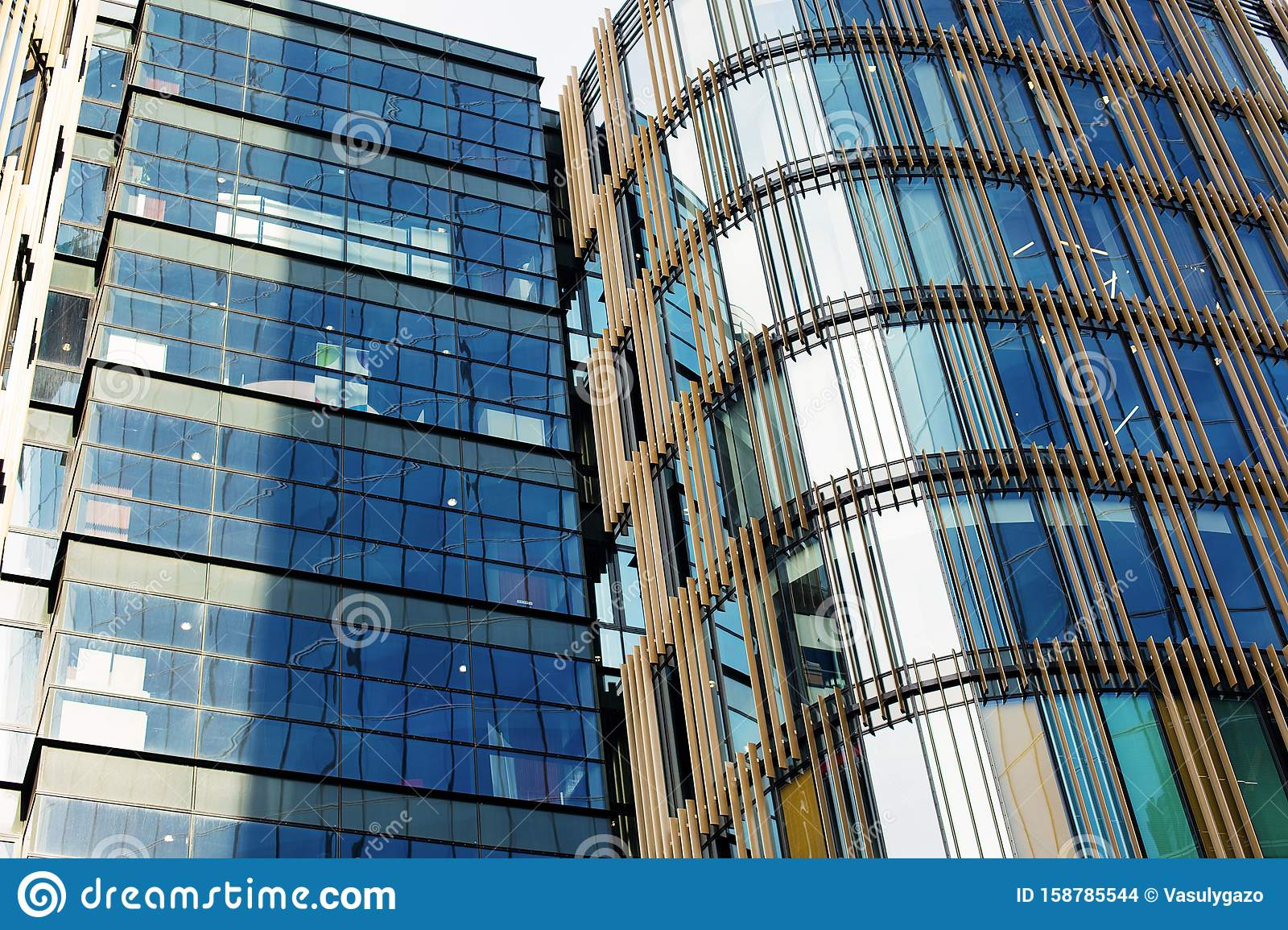 Exterior Of A Modern Office Buildings With New Design Stock Photo Image Of Enterprise Downtown 158785544
