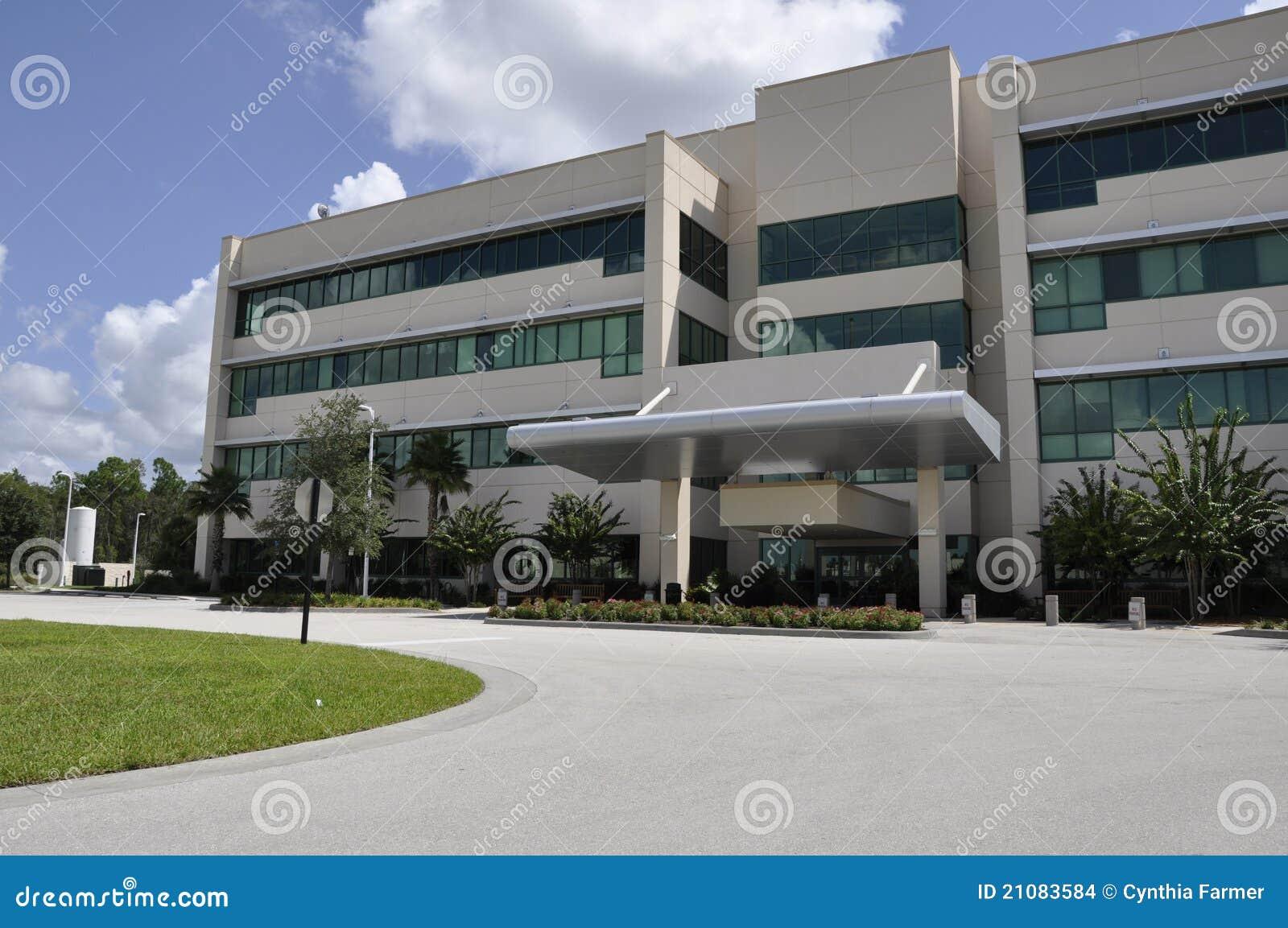 Exterior Moderno Del Hospital Imagenes De Archivo Imagen 21083584