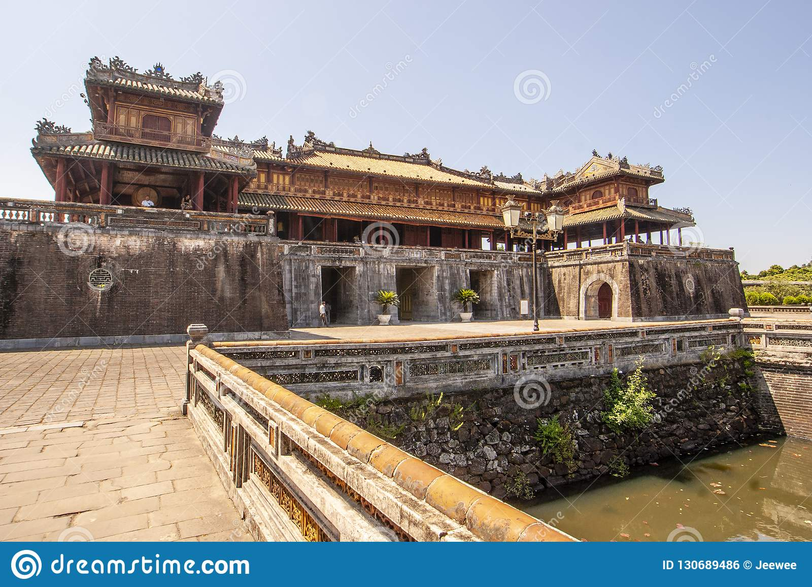 Exterior of the Ngo Mon Gate, part of the Citadel in former Vietnamese capital Hué, Central Vietnam, Vietnam