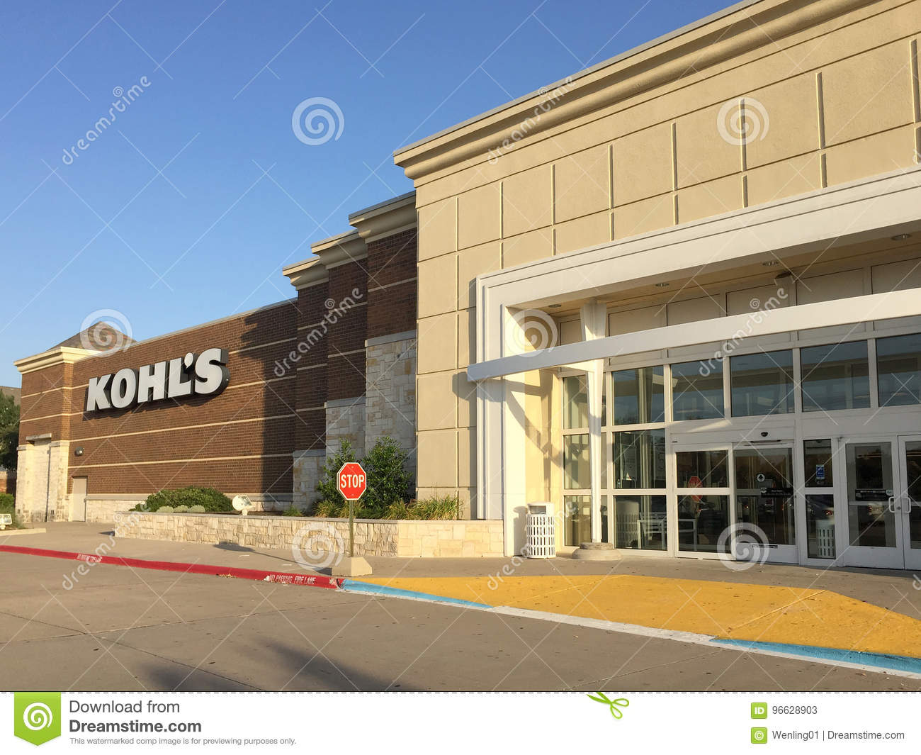 Exterior Of Nice Department Shop Kohls Editorial Stock Photo