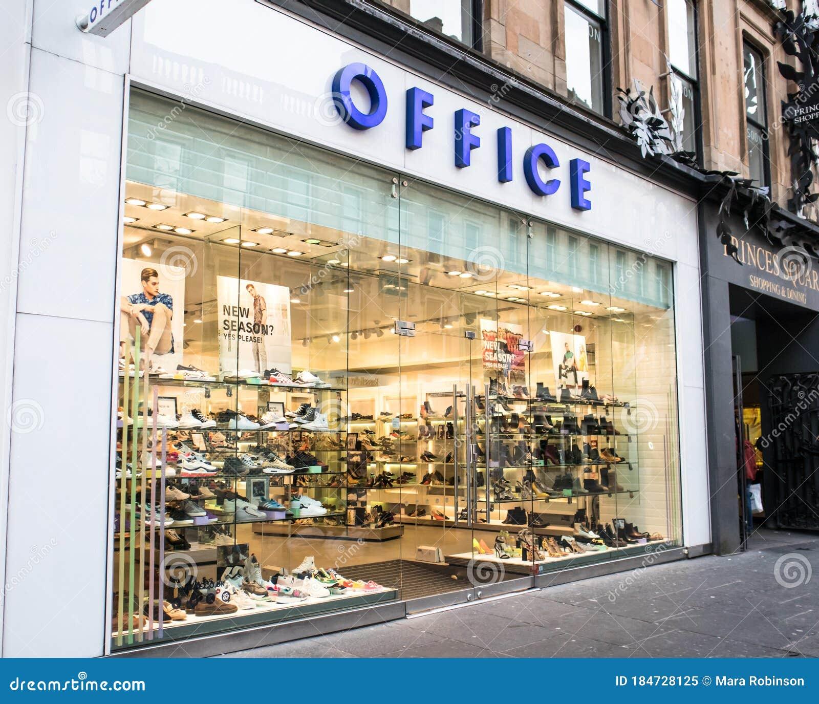 Exterior Of Office Footwear Shoe Shop