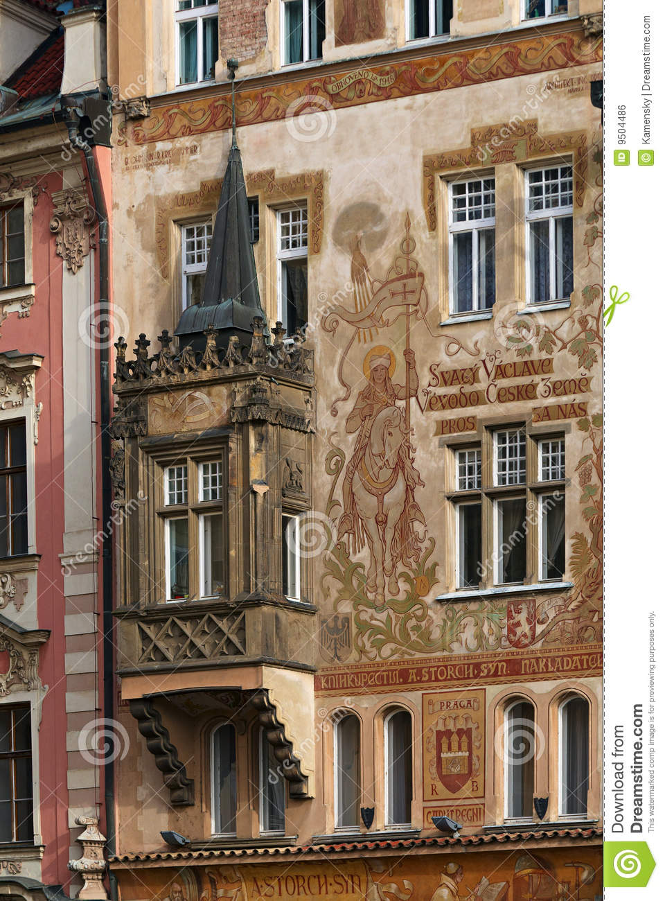 Exterior painting royalty free stock image image 9504486 - Painting old houses exterior concept ...