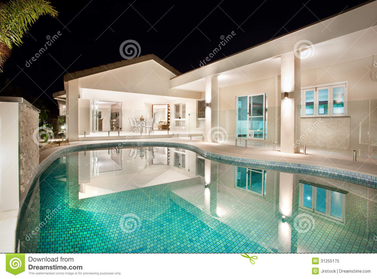 Exterior patio and swimming pool royalty free stock photo - Waterford crystal swimming pool times ...