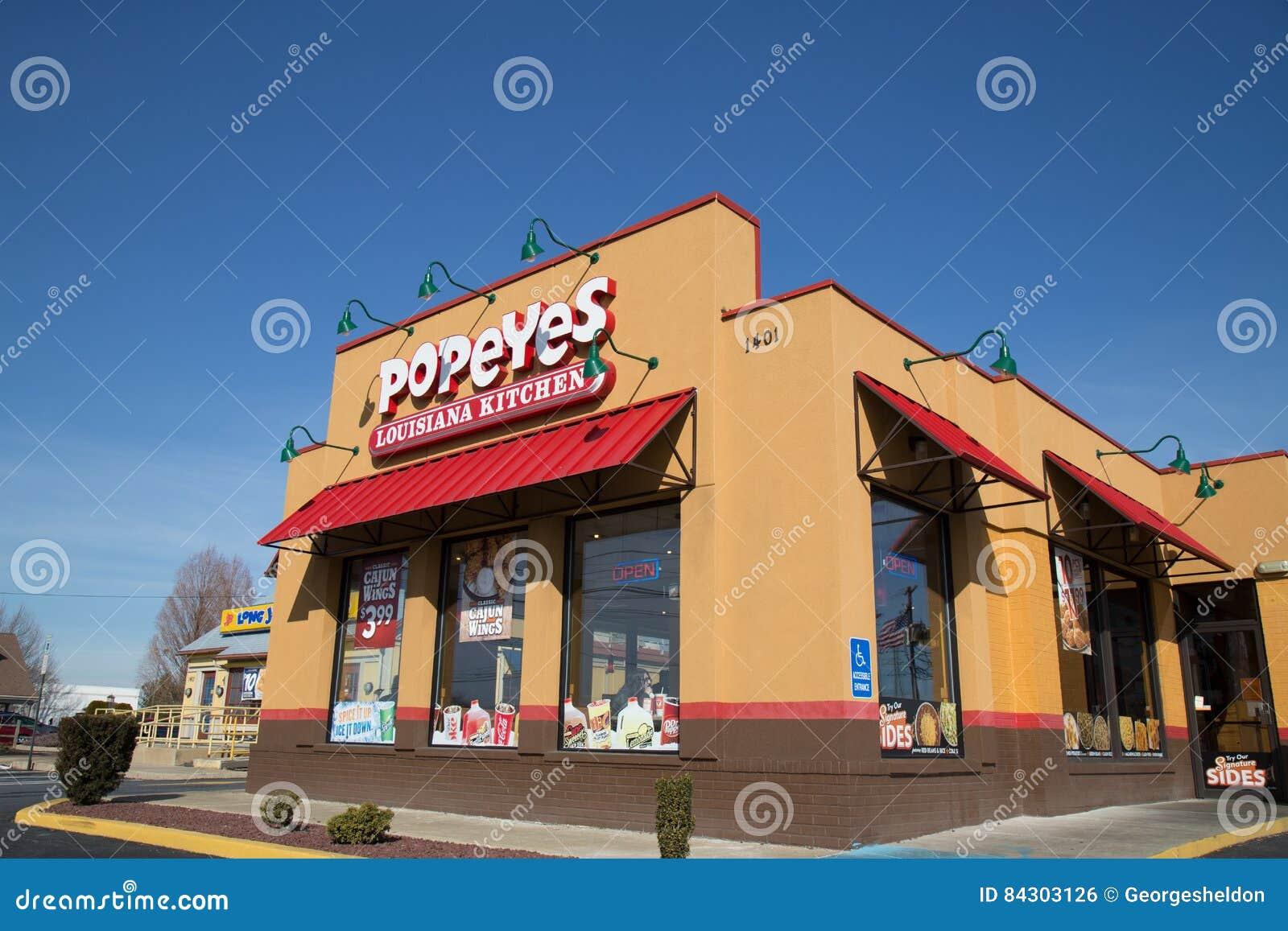 Exterior Of Popeyes Louisiana Kitchen Restaurant Location Editorial Photo Image Of Popeyes Franchise 84303126