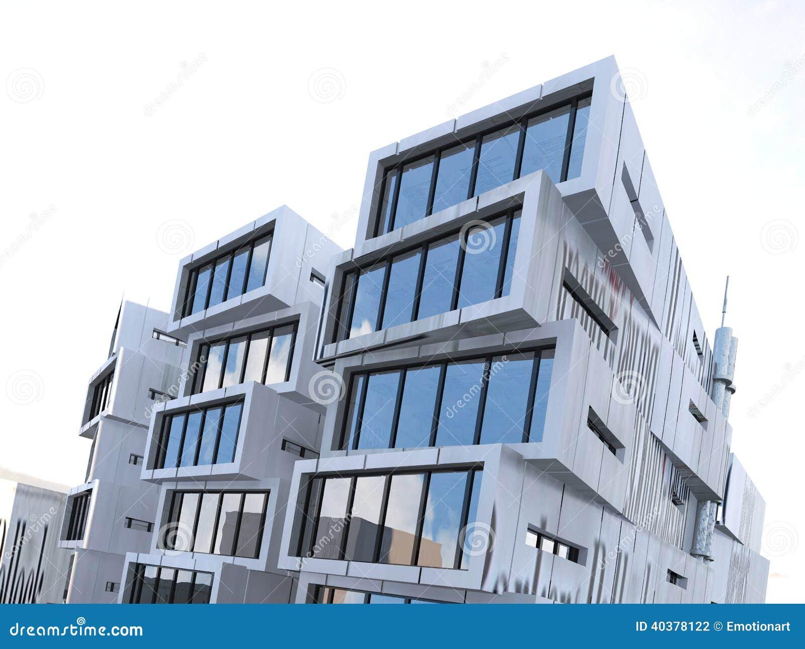 Exterior rectangular asim trico del edificio foto de for Exterior edificios