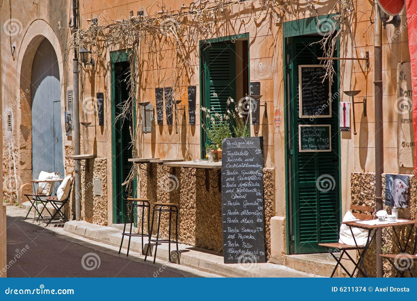 Exterior Of Spanish Restaurant Stock Photo Image Of Hospitality Building 6211374