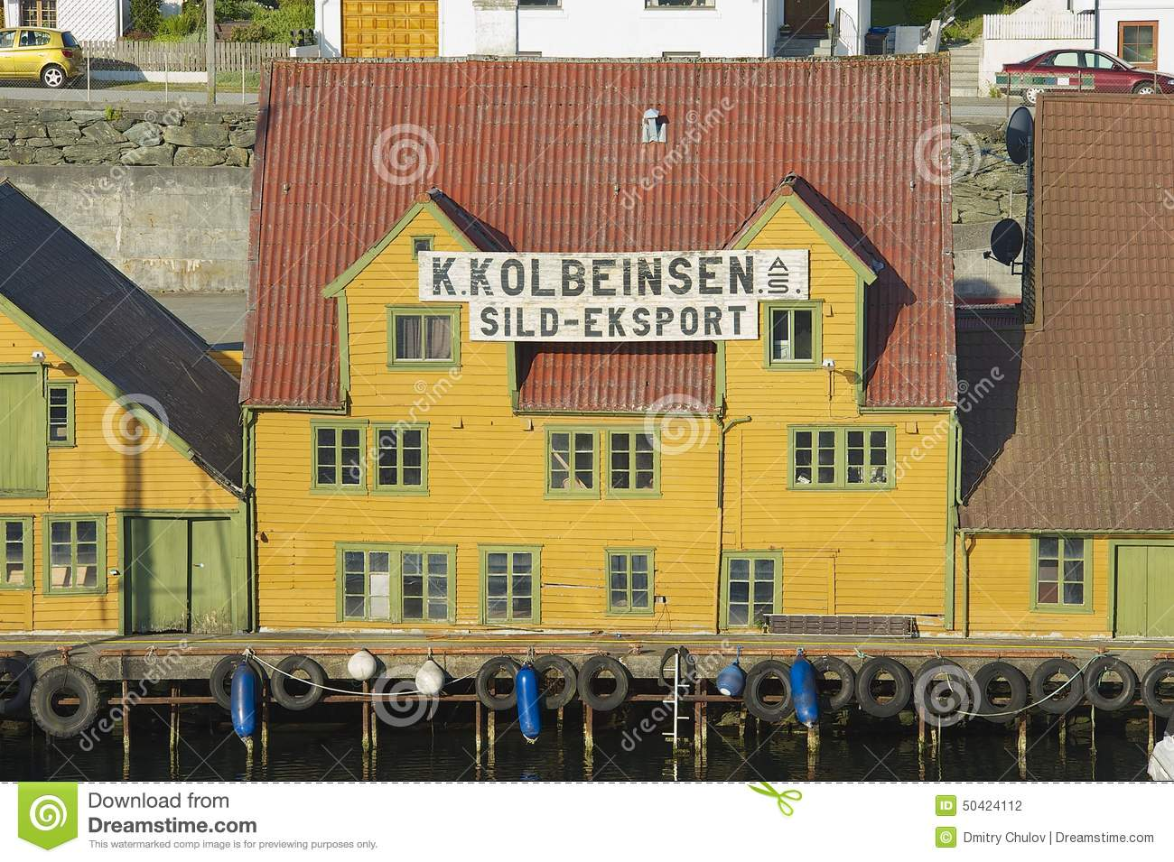 Exterior of the traditional wooden houses in haugesund for Norway wooden houses