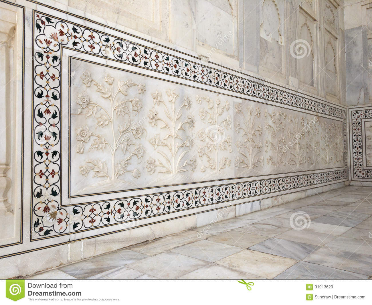Exterior trim of gem stones on white marble background for Exterior background