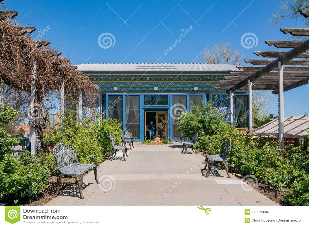 Exterior View Of The Boulder Dushanbe Teahouse Stock Photo Image