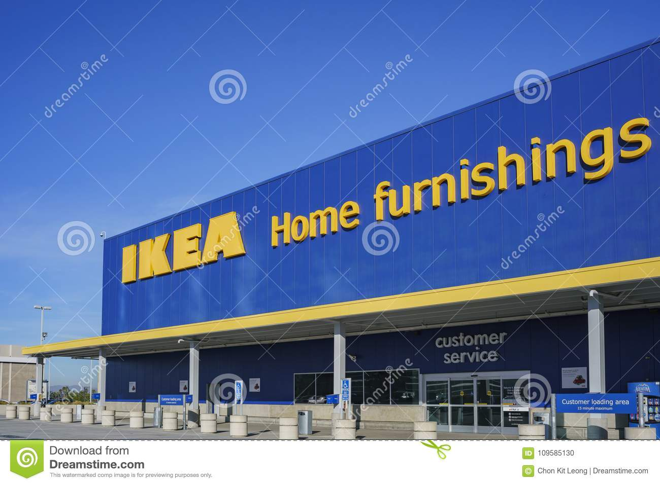 Exterior View Of The Famous Ikea Furniture Stores Stock Photo