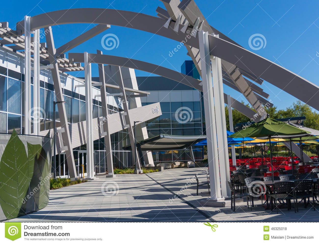 At Work In Googleplex What Amazing >> Exterior View Of Google Office Googleplex Editorial Stock Photo